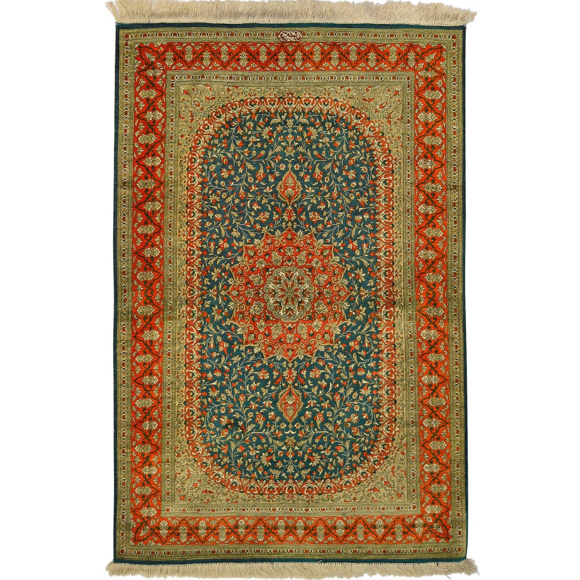 Fine Hand-knotted Persian Silk Qom/Qum Rug (SIGNED) Persian-Rug | House-of-Haghi | NewMarket | Auckland | NZ | Handmade Persian Rugs | Hand Knotted Persian Rugs
