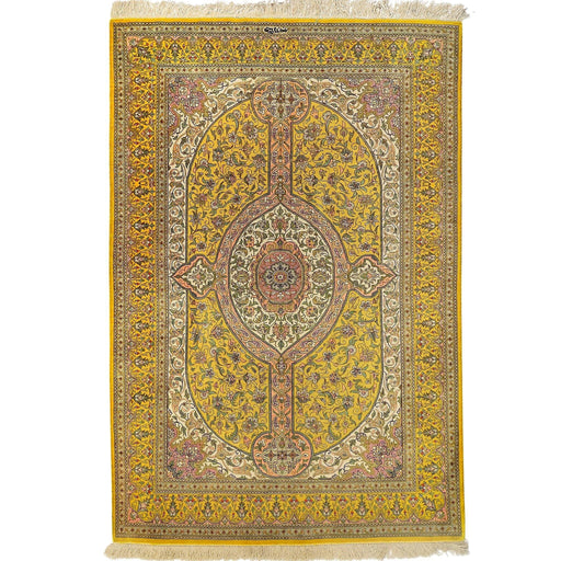 Fine Hand-knotted Persian Qom/Qum Silk Rug (Signed By Master Weaver)