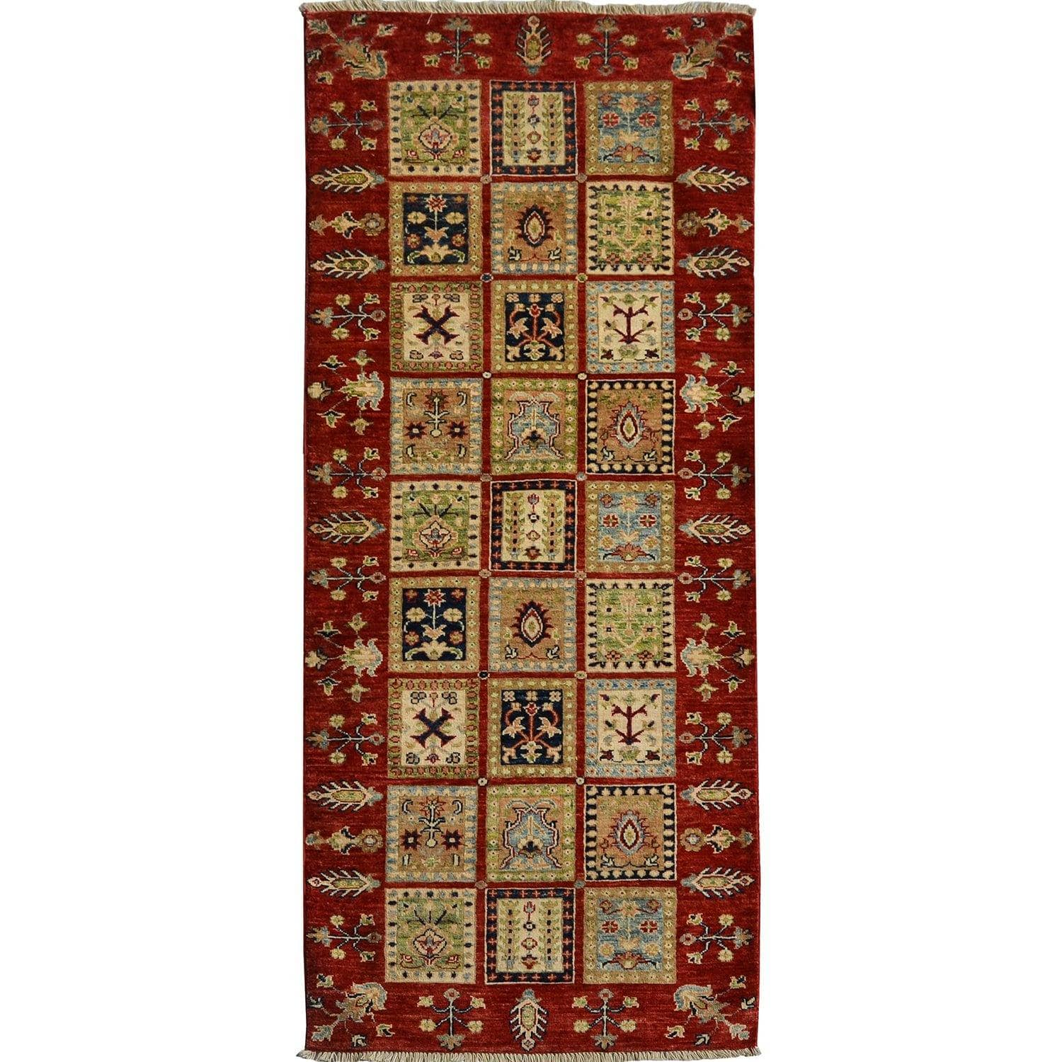 Fine Hand-knotted Tribal Wool Bakhtiari Runner 79cm x 208cm Persian-Rug | House-of-Haghi | NewMarket | Auckland | NZ | Handmade Persian Rugs | Hand Knotted Persian Rugs