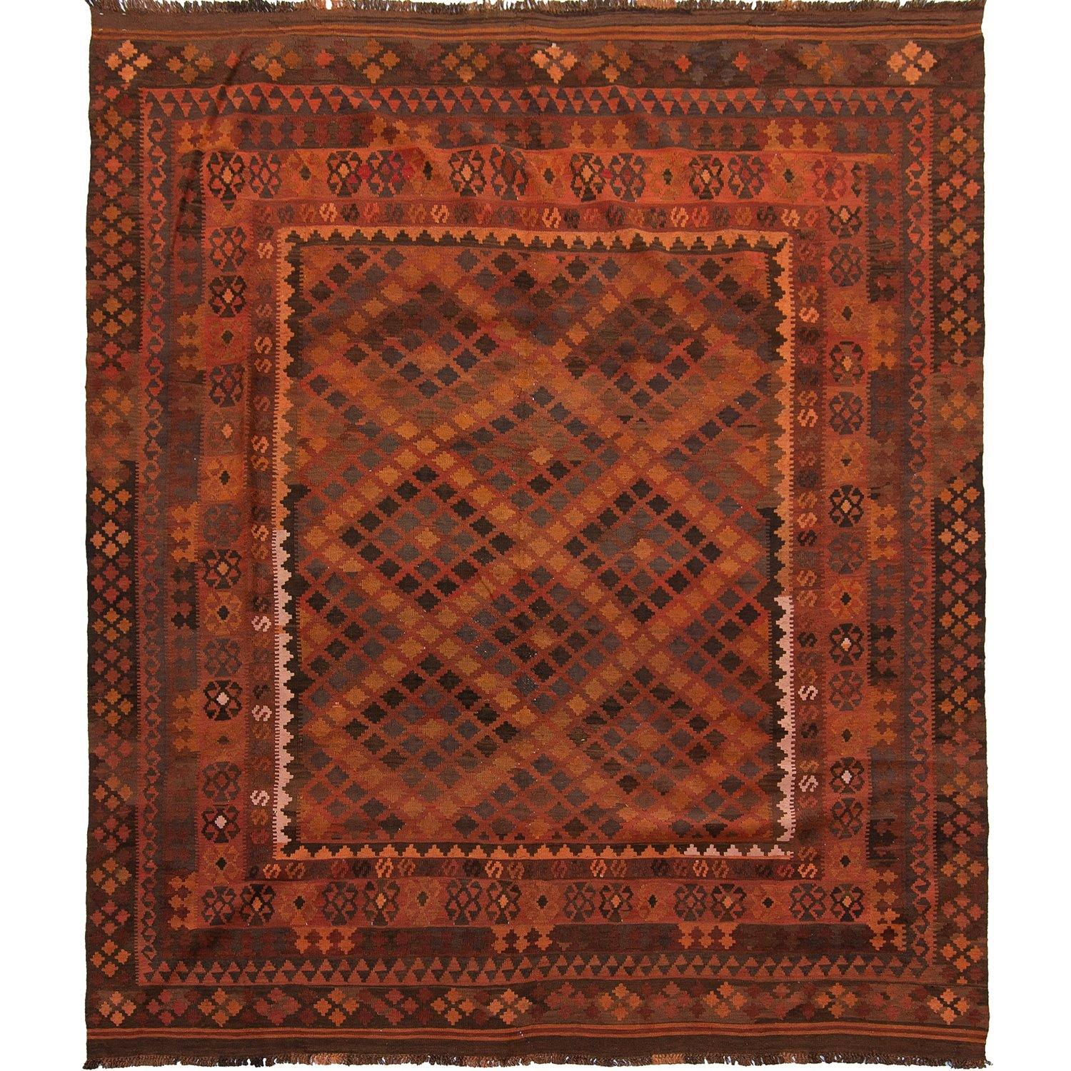 Fine Hand-Woven 100% Wool Kilim Rug 258cm x  307cm Persian-Rug | House-of-Haghi | NewMarket | Auckland | NZ | Handmade Persian Rugs | Hand Knotted Persian Rugs