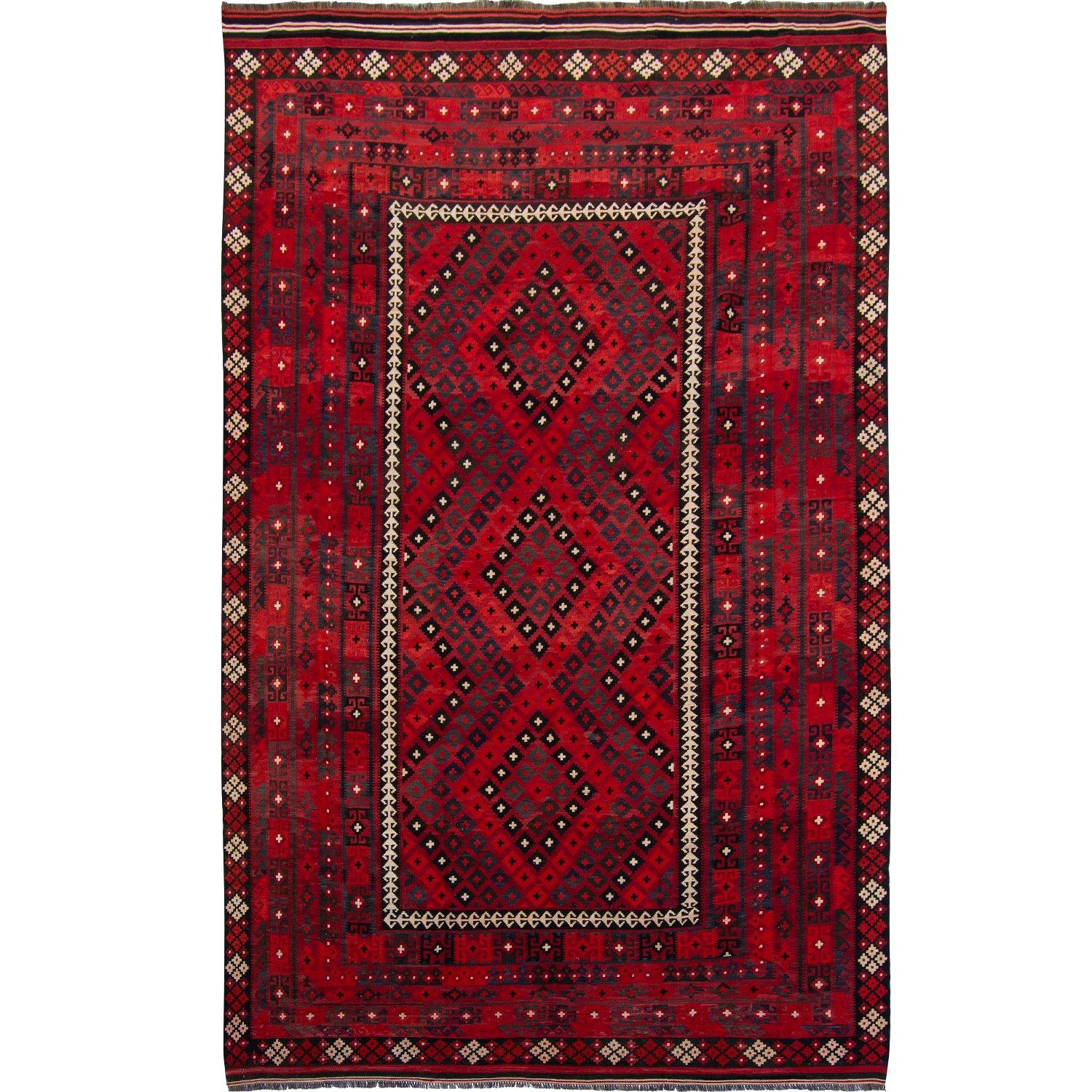 Hand-Woven 100% Wool Kilim Shiraz Rug 300cm x 485cm Persian-Rug | House-of-Haghi | NewMarket | Auckland | NZ | Handmade Persian Rugs | Hand Knotted Persian Rugs