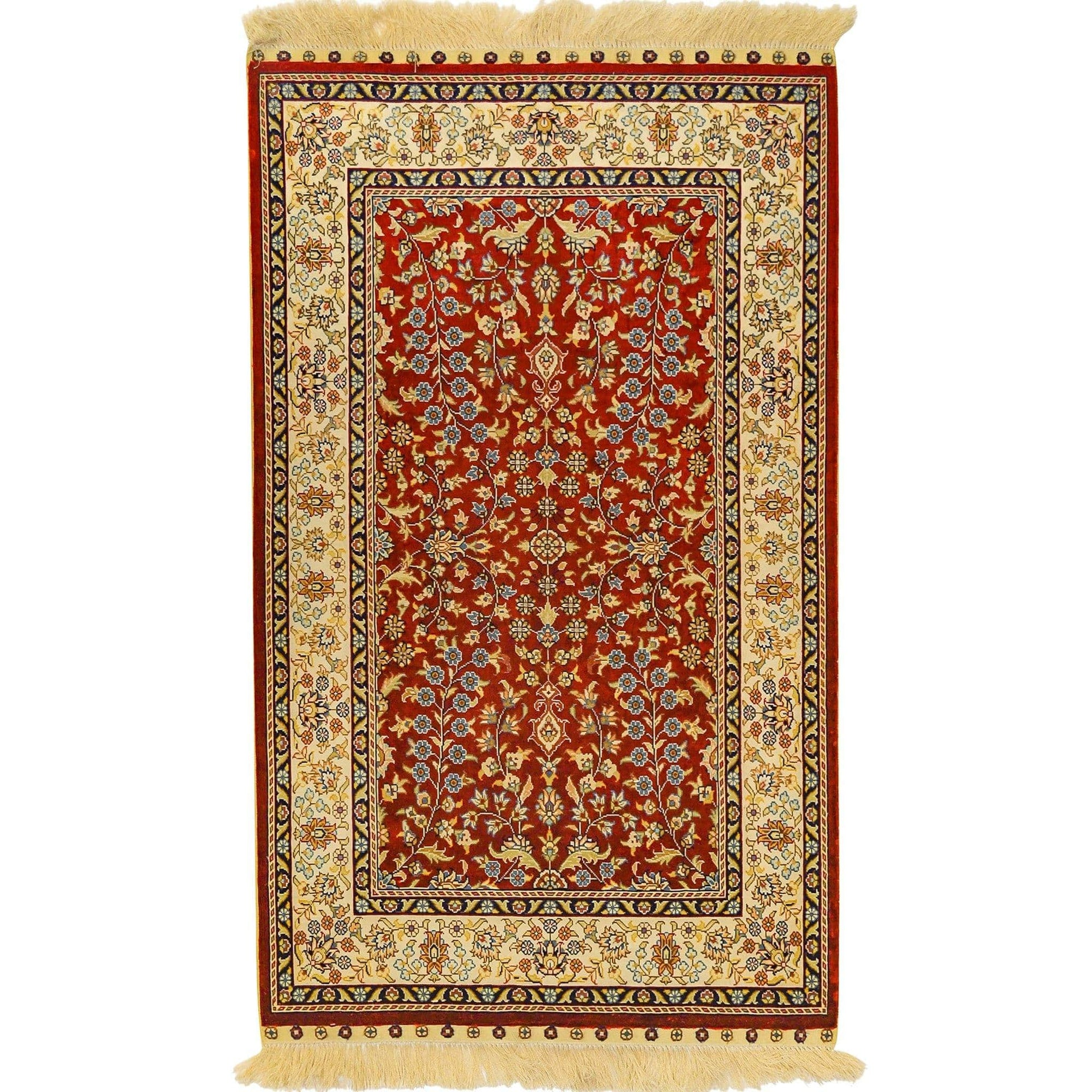 High Hand-knotted Pure Kashmiri Silk Rug 76cm x 122cm Persian-Rug | House-of-Haghi | NewMarket | Auckland | NZ | Handmade Persian Rugs | Hand Knotted Persian Rugs