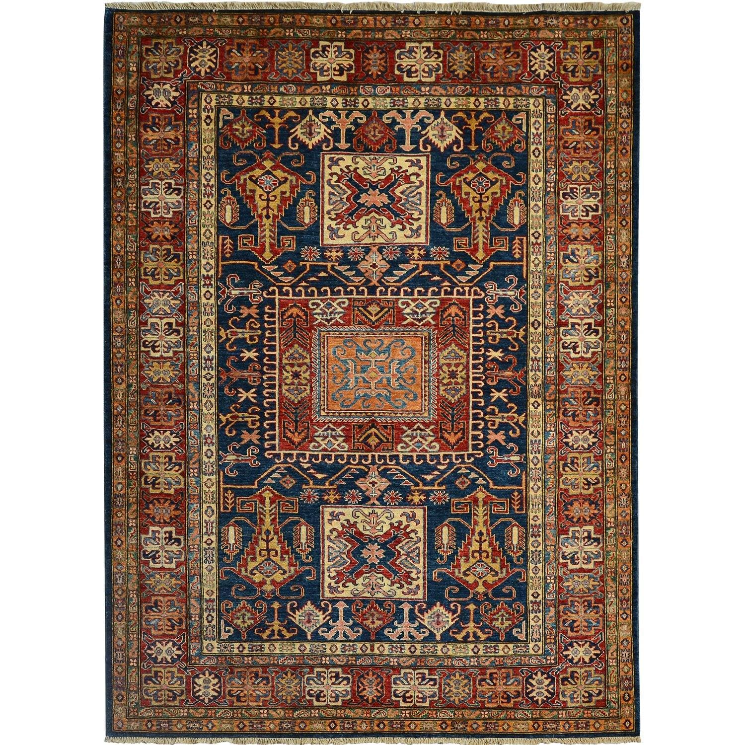 Super Fine Hand-knotted Tribal Super Kazak Wool Rug 177cm x 236cm Persian-Rug | House-of-Haghi | NewMarket | Auckland | NZ | Handmade Persian Rugs | Hand Knotted Persian Rugs