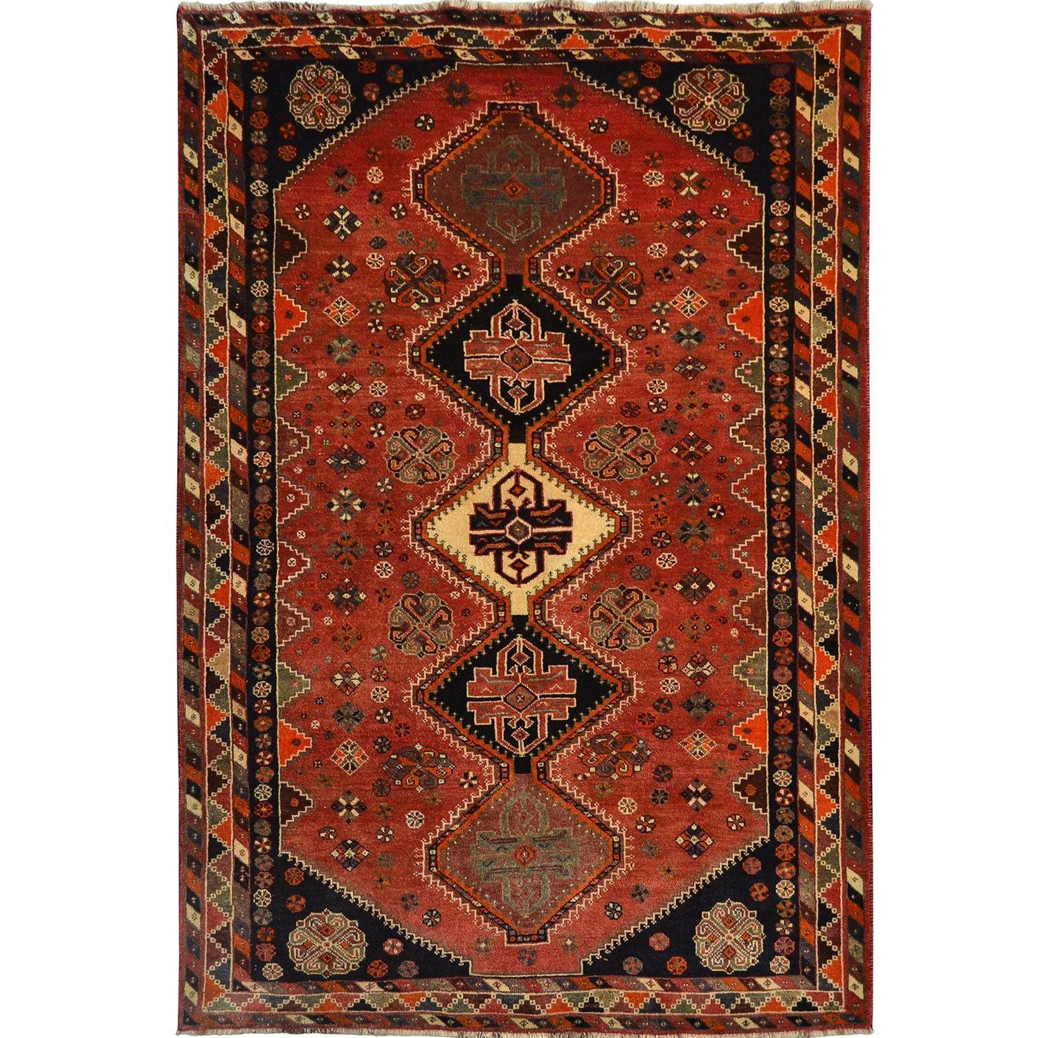 Fine Hand-knotted Persian Shiraz Wool Rug 165cm x 260cm Persian-Rug | House-of-Haghi | NewMarket | Auckland | NZ | Handmade Persian Rugs | Hand Knotted Persian Rugs