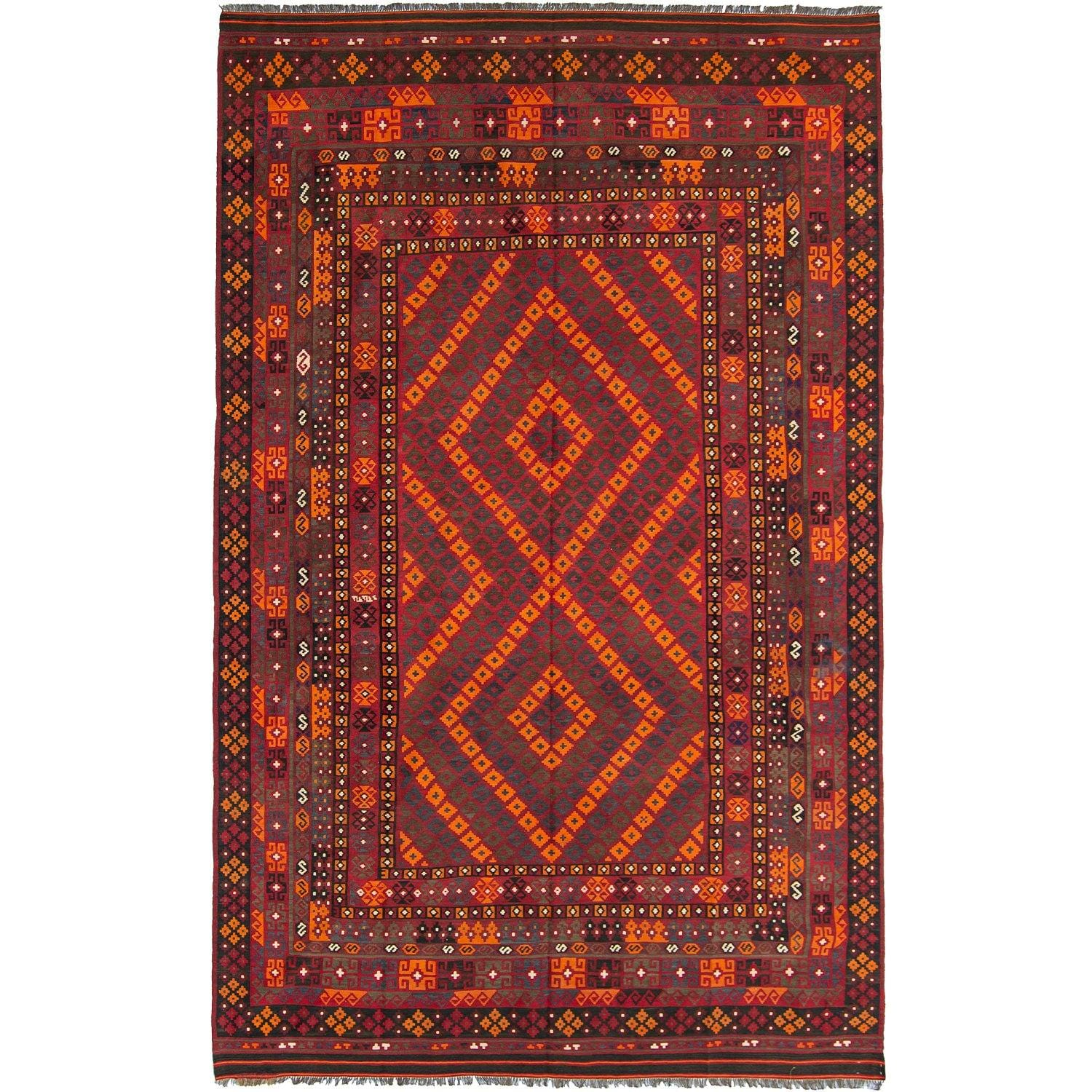 Fine Hand-woven 100% Wool Kilim Rug 262cm x 403cm Persian-Rug | House-of-Haghi | NewMarket | Auckland | NZ | Handmade Persian Rugs | Hand Knotted Persian Rugs