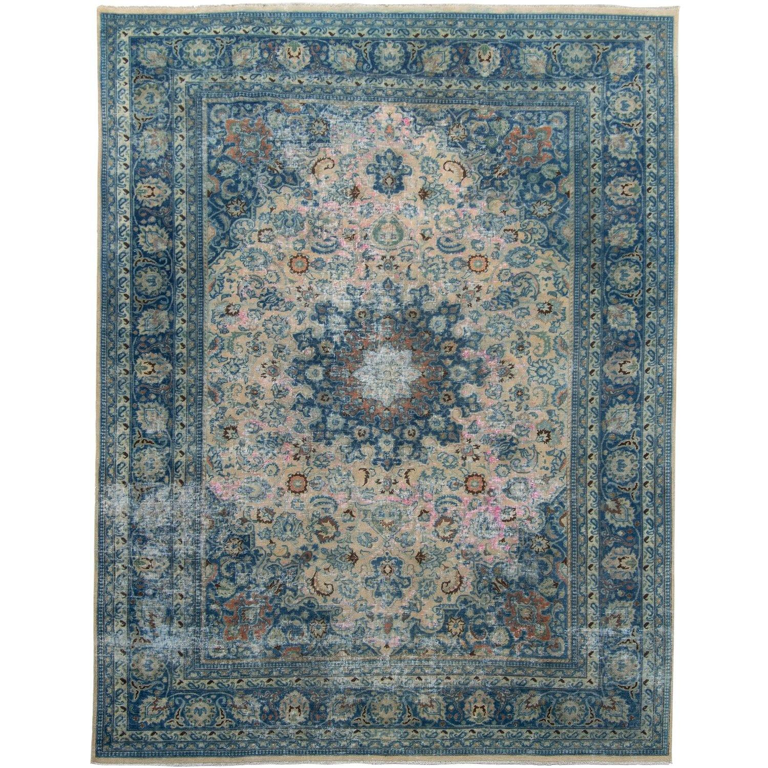 Vintage Persian Hand-knotted  Wool Rug 280cm x 368cm Persian-Rug | House-of-Haghi | NewMarket | Auckland | NZ | Handmade Persian Rugs | Hand Knotted Persian Rugs