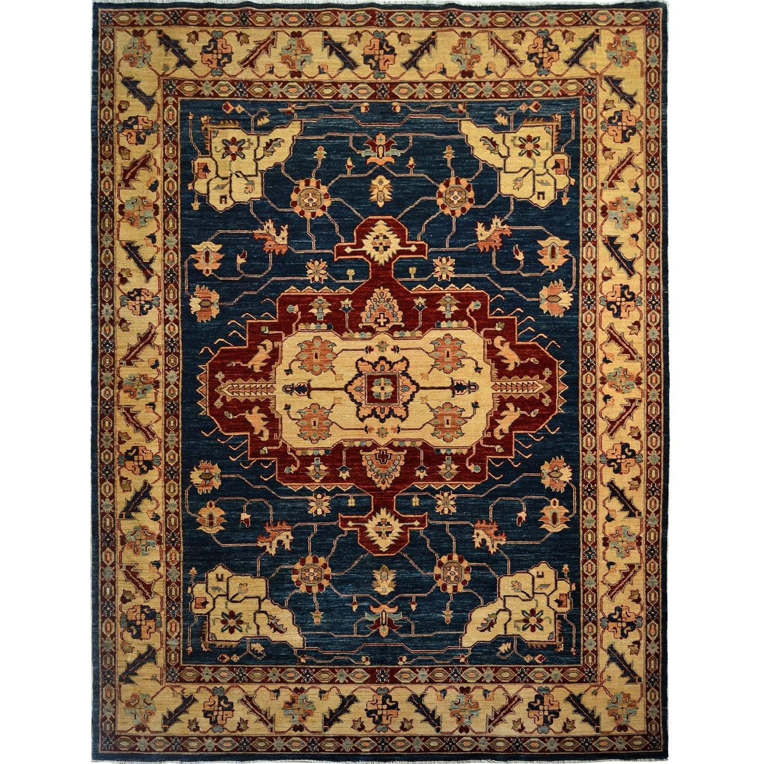 Fine Hand-knotted Heriz Wool Rug 215cm x 305cm Persian-Rug | House-of-Haghi | NewMarket | Auckland | NZ | Handmade Persian Rugs | Hand Knotted Persian Rugs