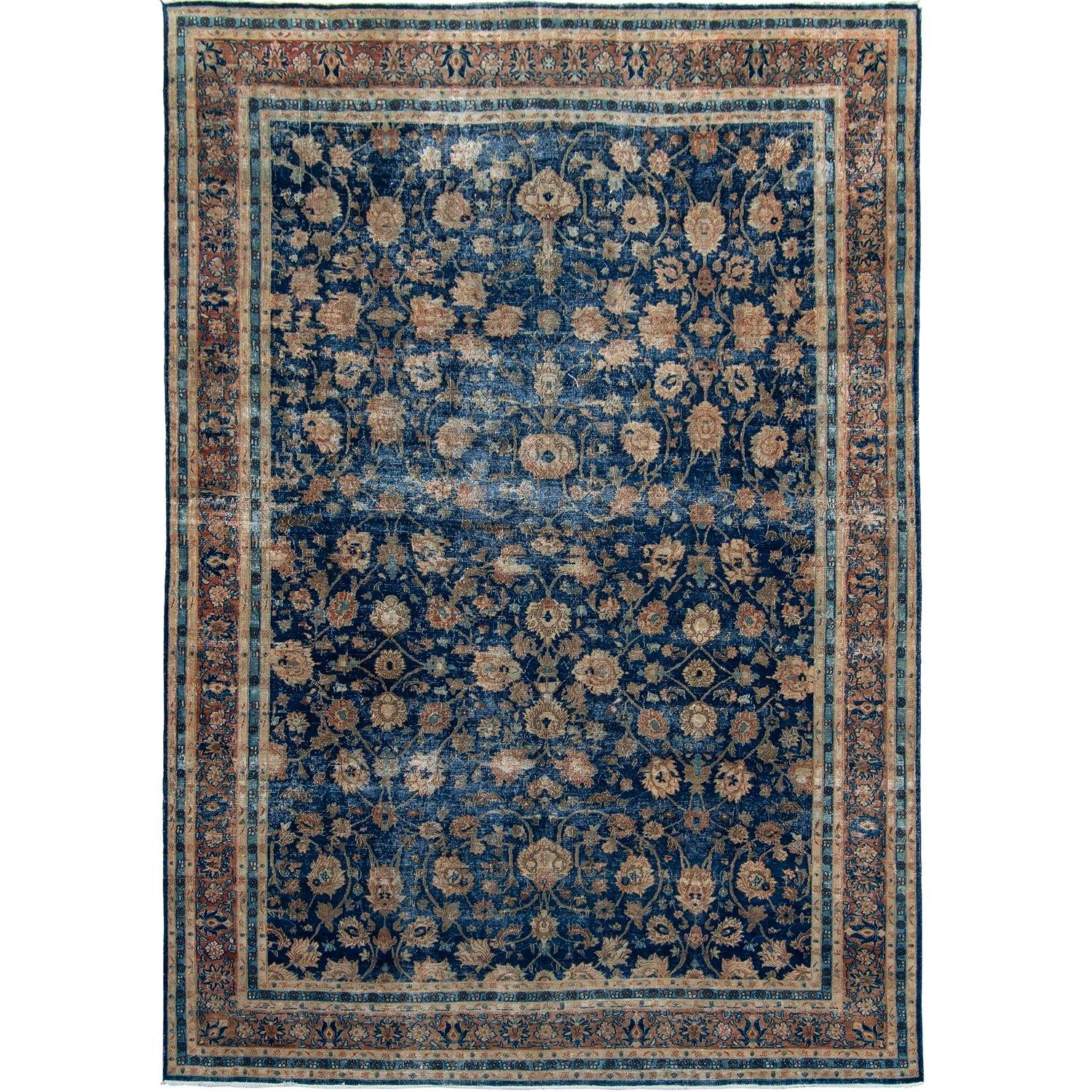 Vintage Persian  Hand-knotted Wool Rug 257cm x 346cm Persian-Rug | House-of-Haghi | NewMarket | Auckland | NZ | Handmade Persian Rugs | Hand Knotted Persian Rugs