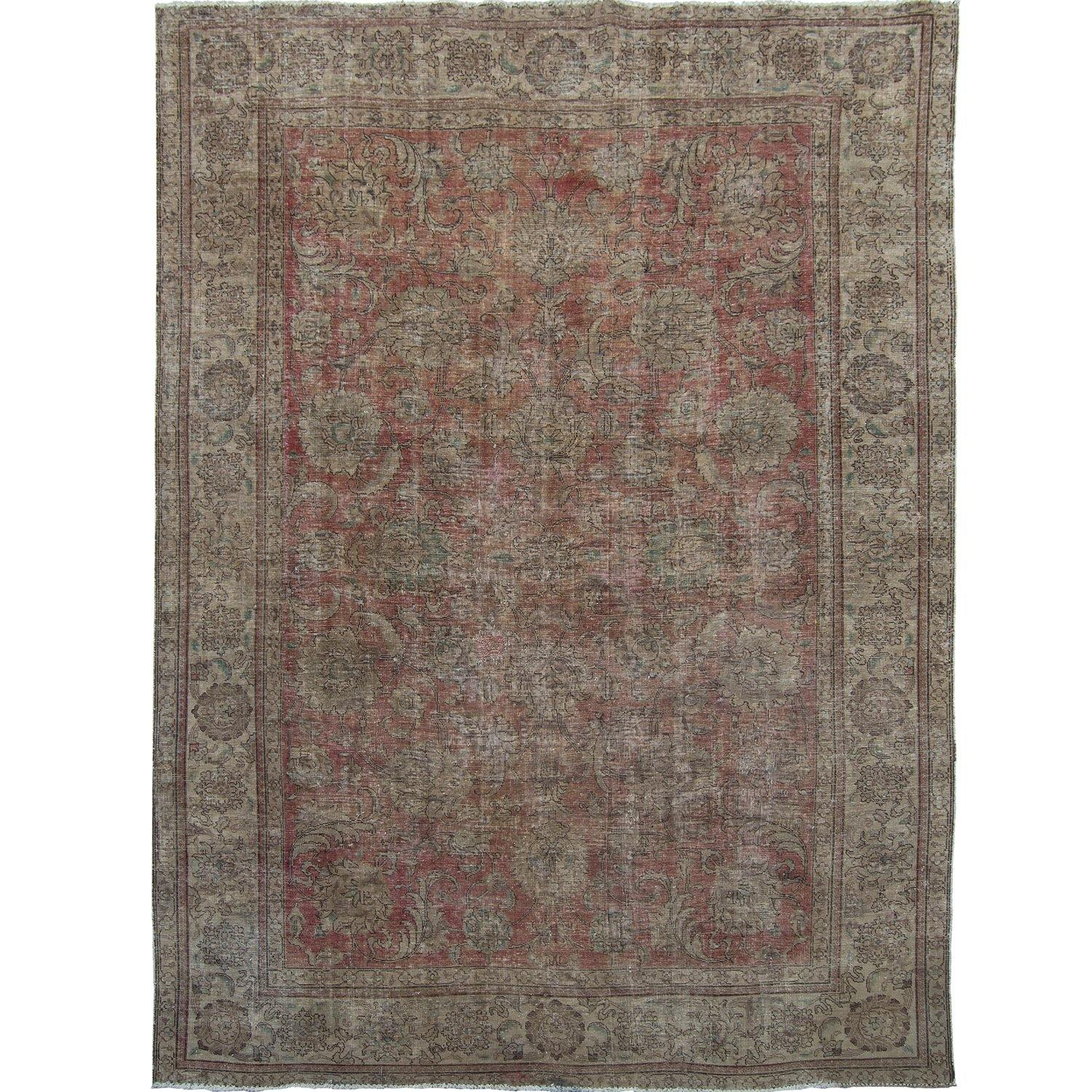 Vintage Hand-knotted Persian Wool Rug 257cm x 346cm Persian-Rug | House-of-Haghi | NewMarket | Auckland | NZ | Handmade Persian Rugs | Hand Knotted Persian Rugs