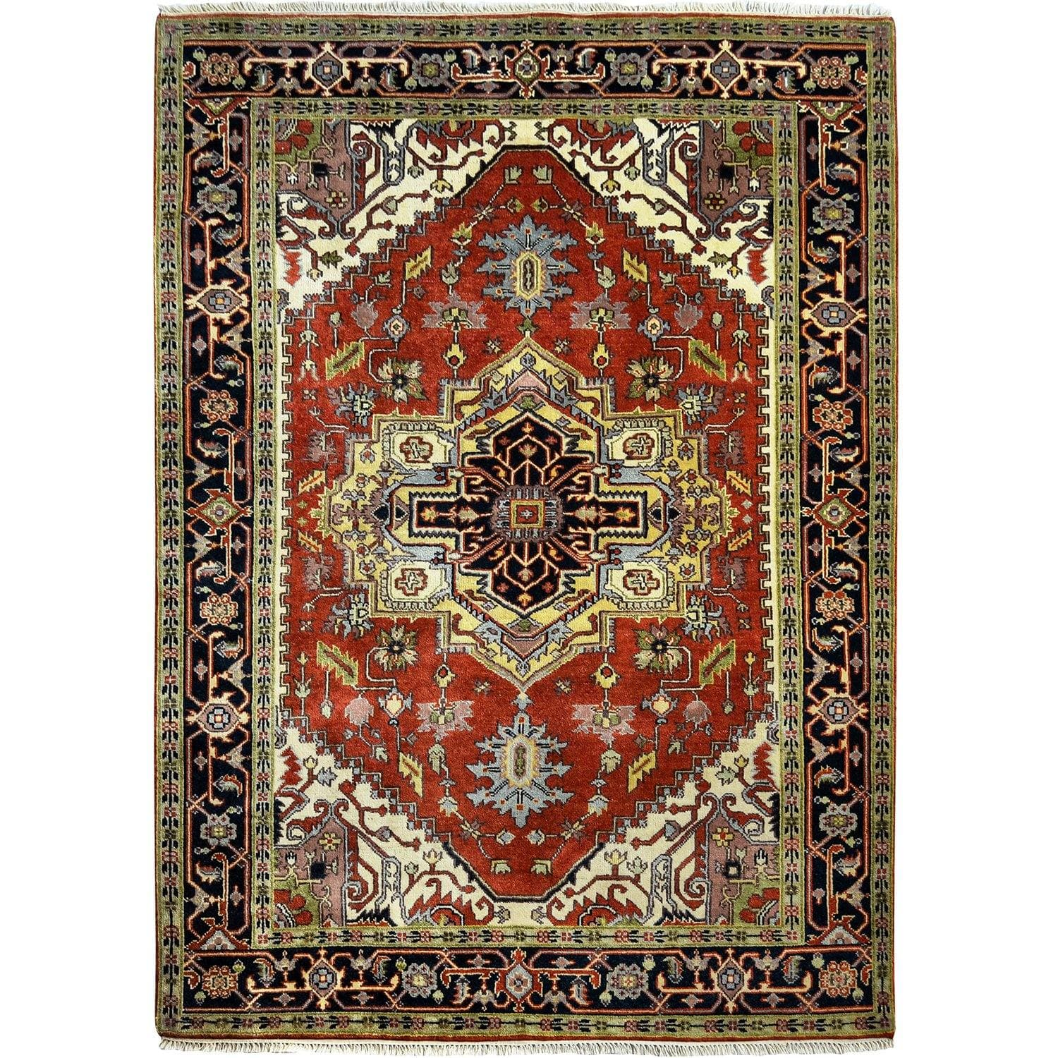 Fine Hand-knotted Wool Heriz Rug 187cm x 277cm Persian-Rug | House-of-Haghi | NewMarket | Auckland | NZ | Handmade Persian Rugs | Hand Knotted Persian Rugs