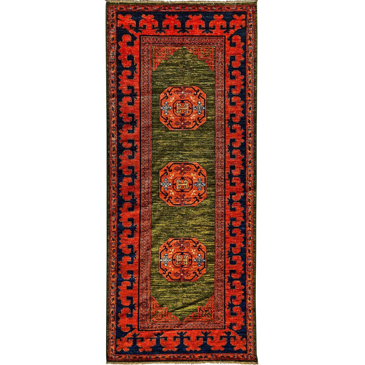 Fine Hand-knotted Tribal Wool Runner 123cm x 296cm Persian-Rug | House-of-Haghi | NewMarket | Auckland | NZ | Handmade Persian Rugs | Hand Knotted Persian Rugs