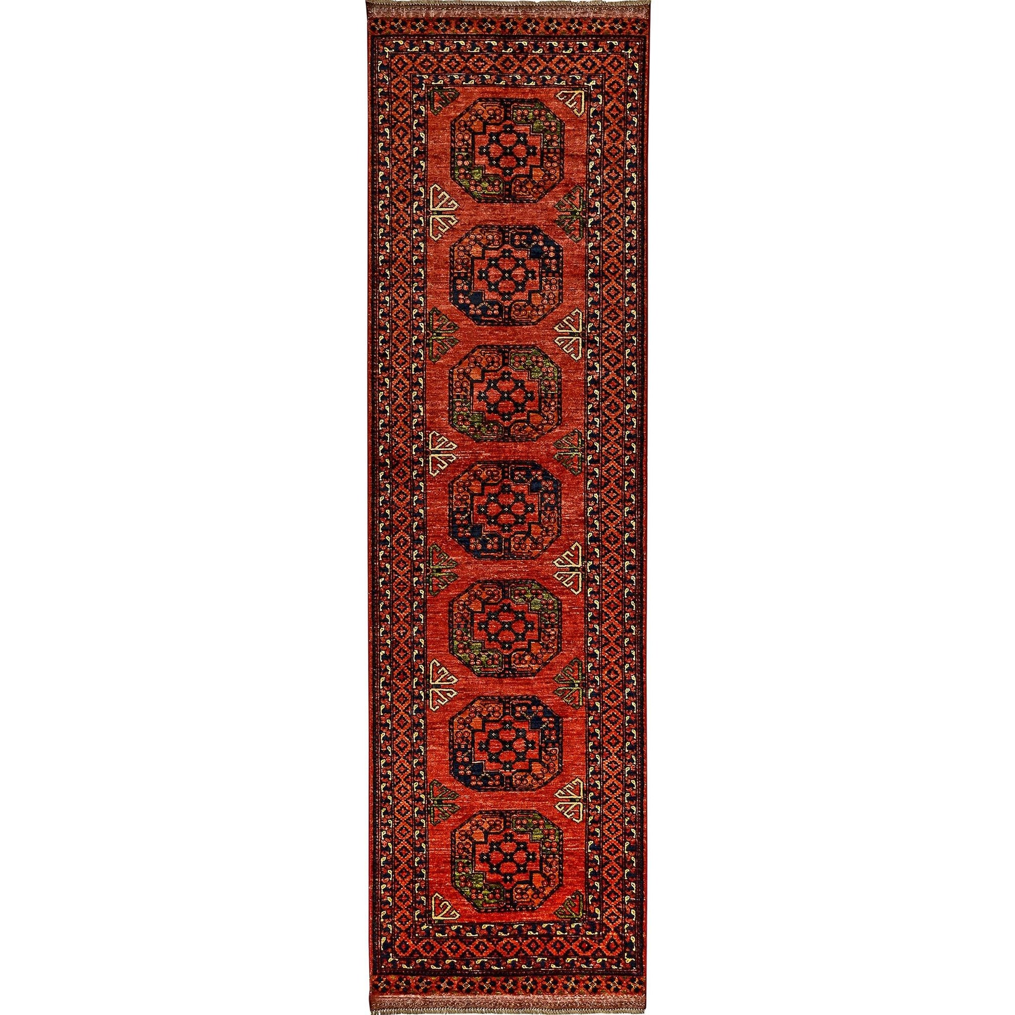 Fine Hand-knotted Turkmen Wool Runner 85cm x 295cm Persian-Rug | House-of-Haghi | NewMarket | Auckland | NZ | Handmade Persian Rugs | Hand Knotted Persian Rugs
