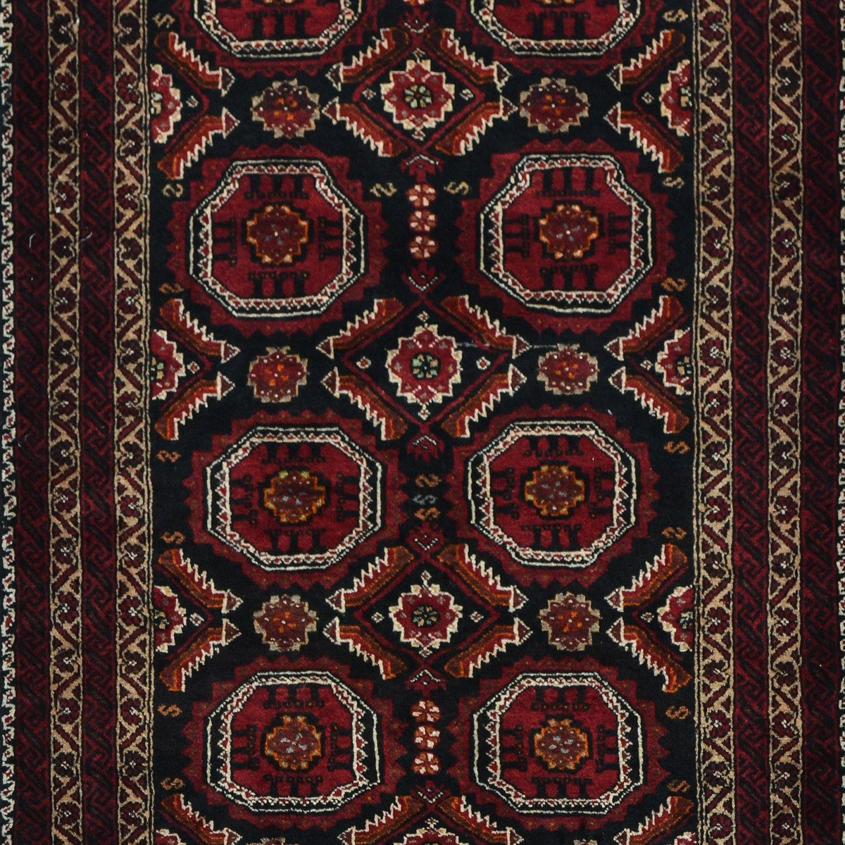 Fine Hand-knotted Wool Baluchi Persian Rug 98cm x 192cm