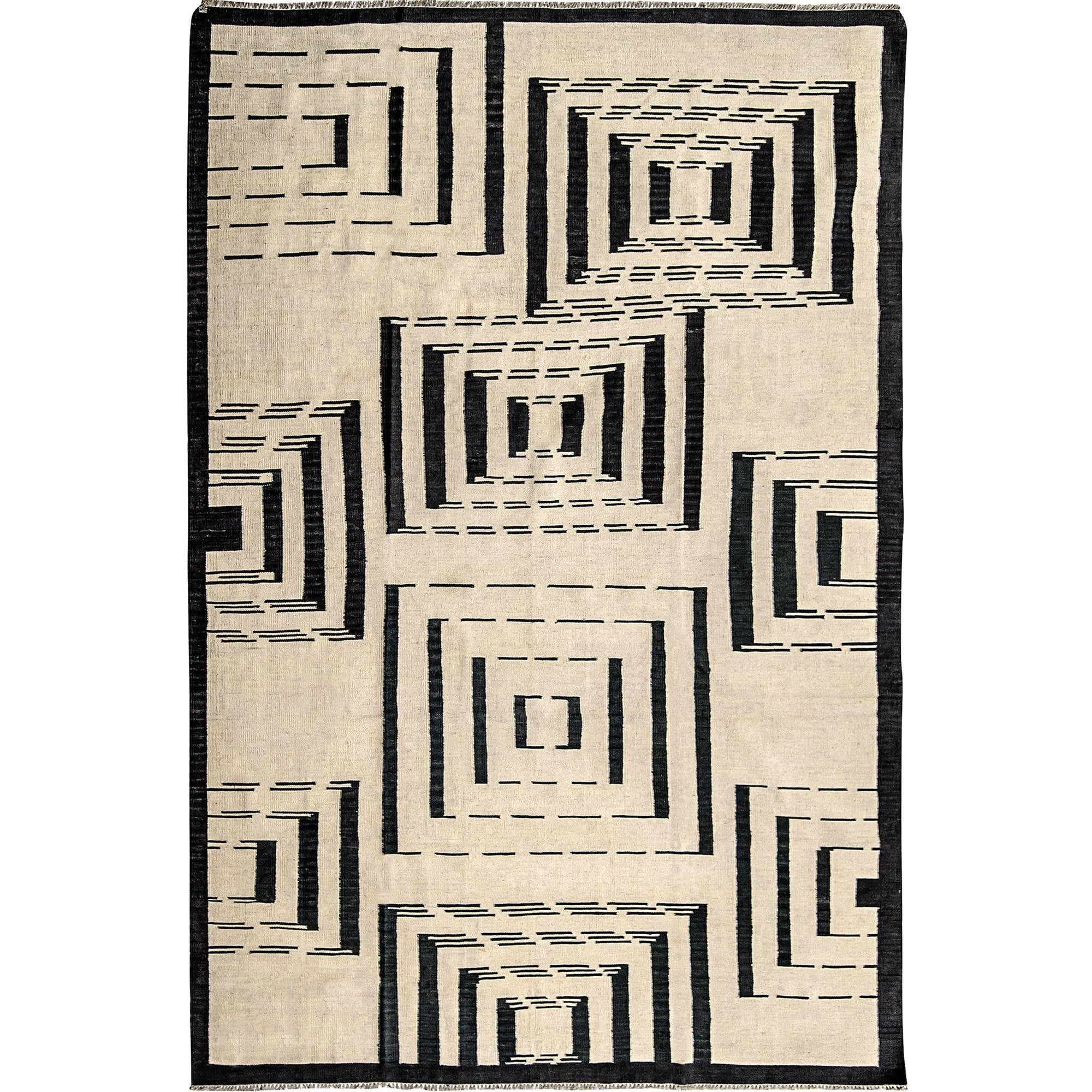 Modern Hand-woven 100% Wool Chobi Kilim Rug 210cm x 301cm Persian-Rug | House-of-Haghi | NewMarket | Auckland | NZ | Handmade Persian Rugs | Hand Knotted Persian Rugs