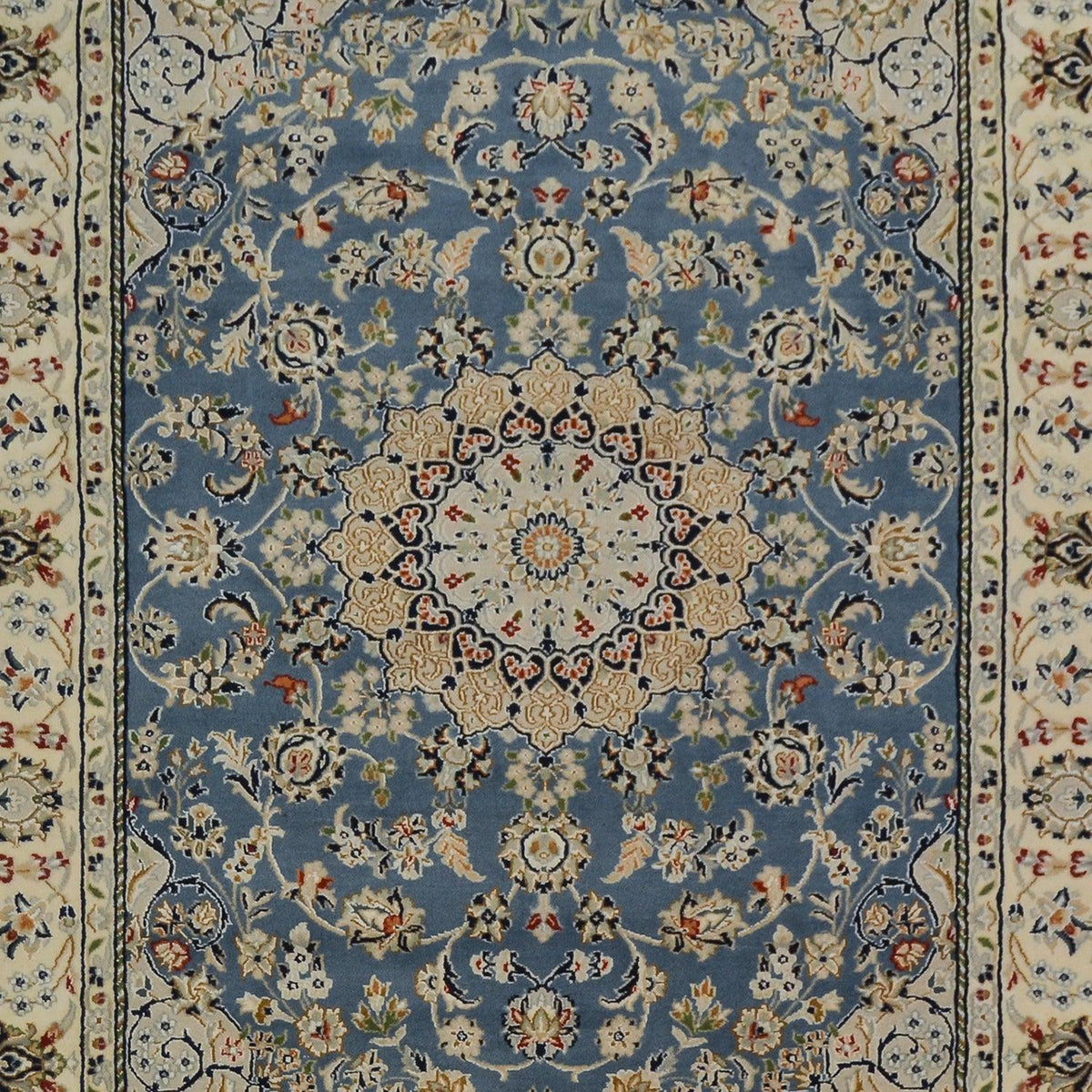 Fine Hand-knotted Wool Nain Rug 195cm 301cm