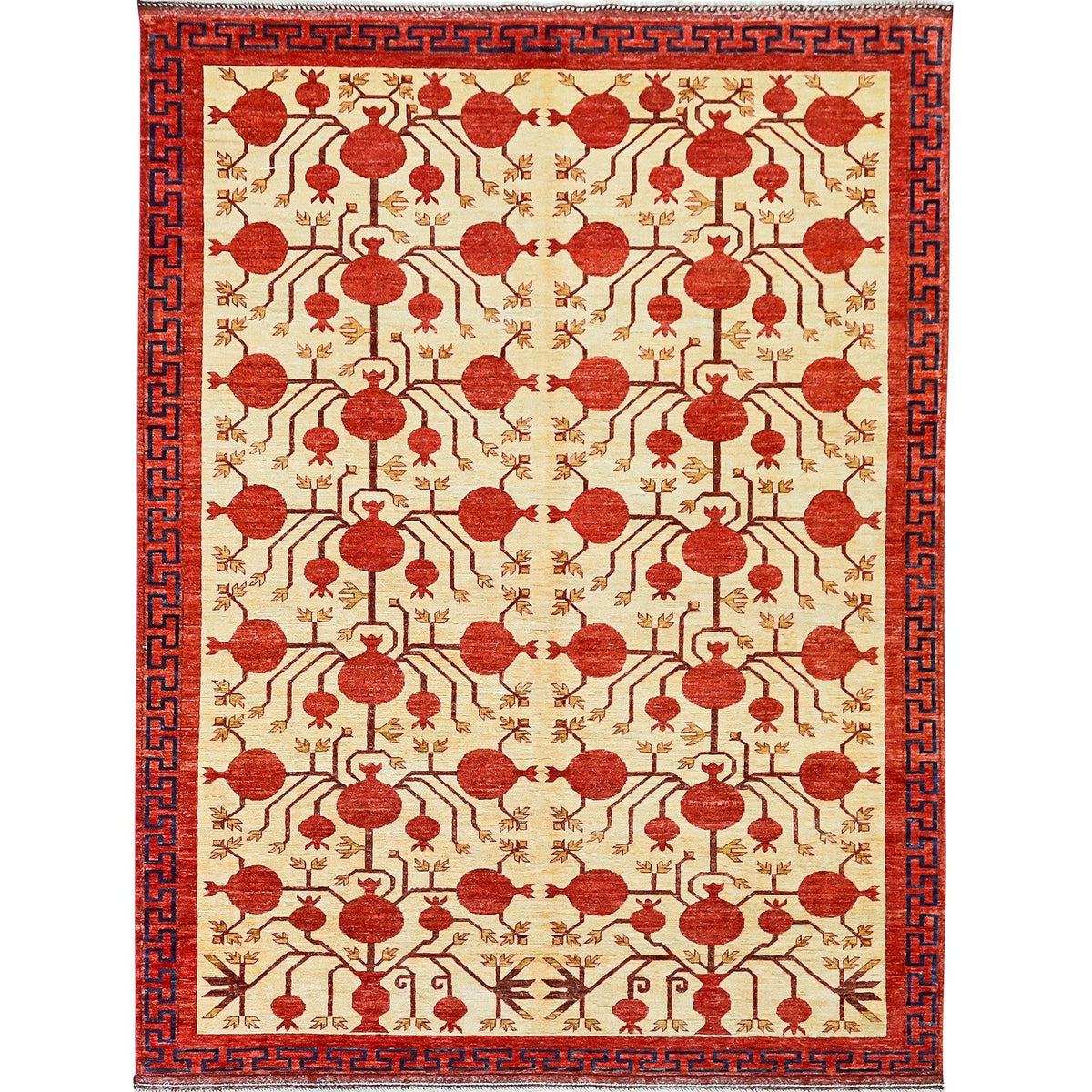 Fine Hand-knotted Tribal Vintage Design Wool Rug 224cm x 313cm Persian-Rug | House-of-Haghi | NewMarket | Auckland | NZ | Handmade Persian Rugs | Hand Knotted Persian Rugs