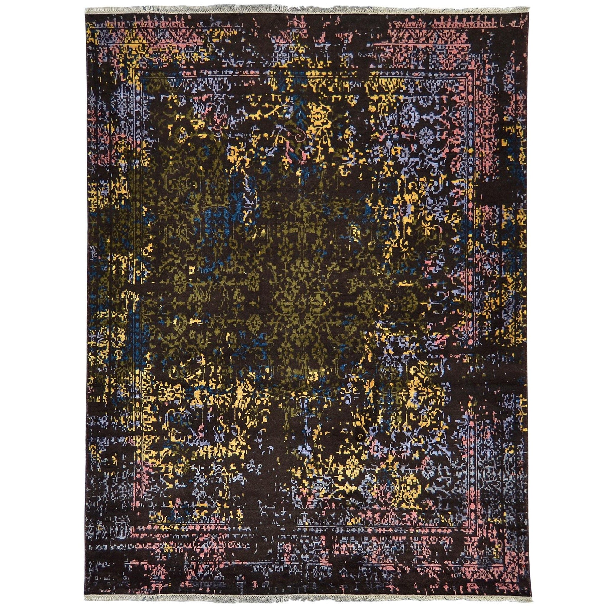 Contemporary Fine Hand-knotted Wool & Bamboo Silk Rug 158cm x 222cm Persian-Rug | House-of-Haghi | NewMarket | Auckland | NZ | Handmade Persian Rugs | Hand Knotted Persian Rugs