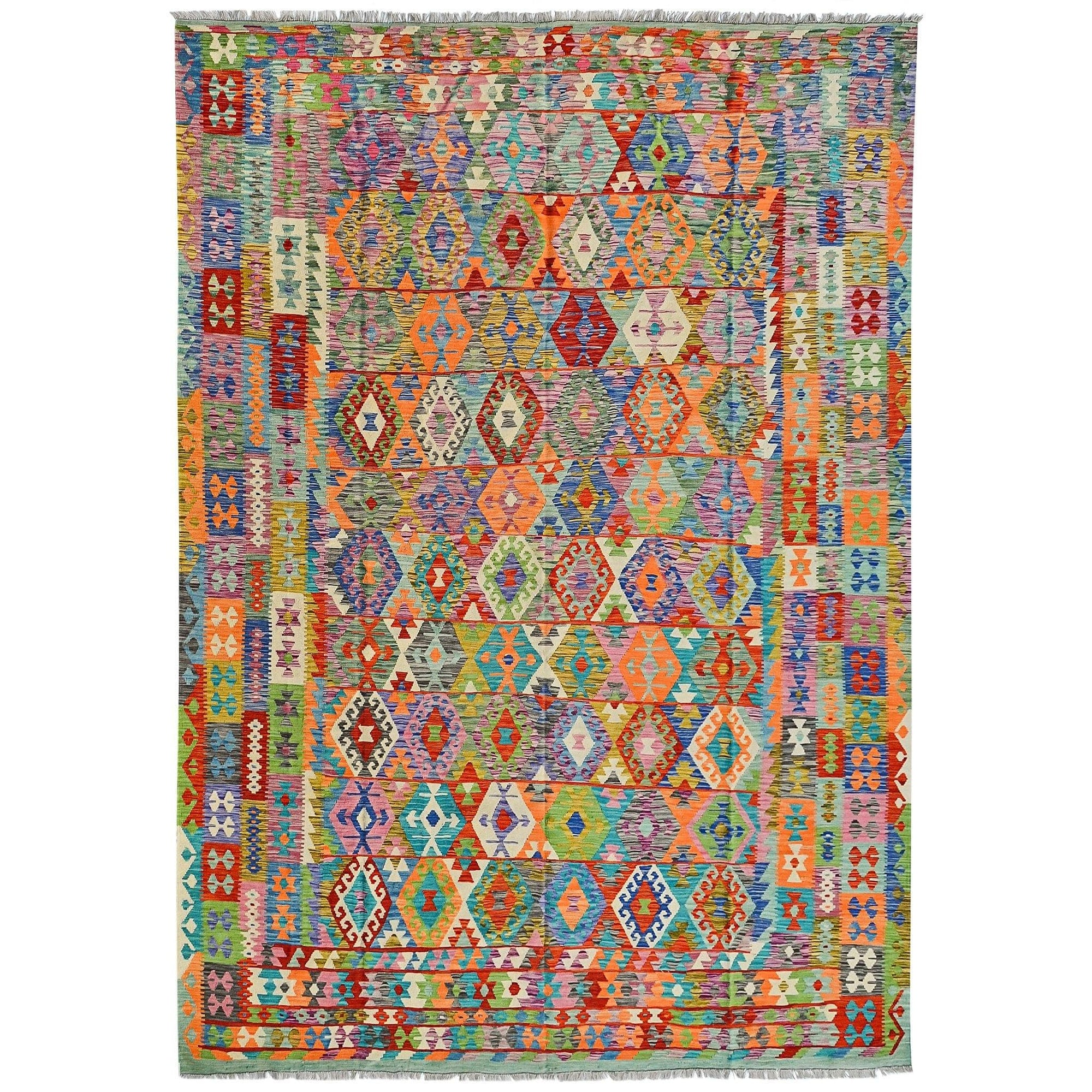 Extra Large Modern Hand-woven Chobi Wool Kilim Rug 311cm x 394cm Persian-Rug | House-of-Haghi | NewMarket | Auckland | NZ | Handmade Persian Rugs | Hand Knotted Persian Rugs