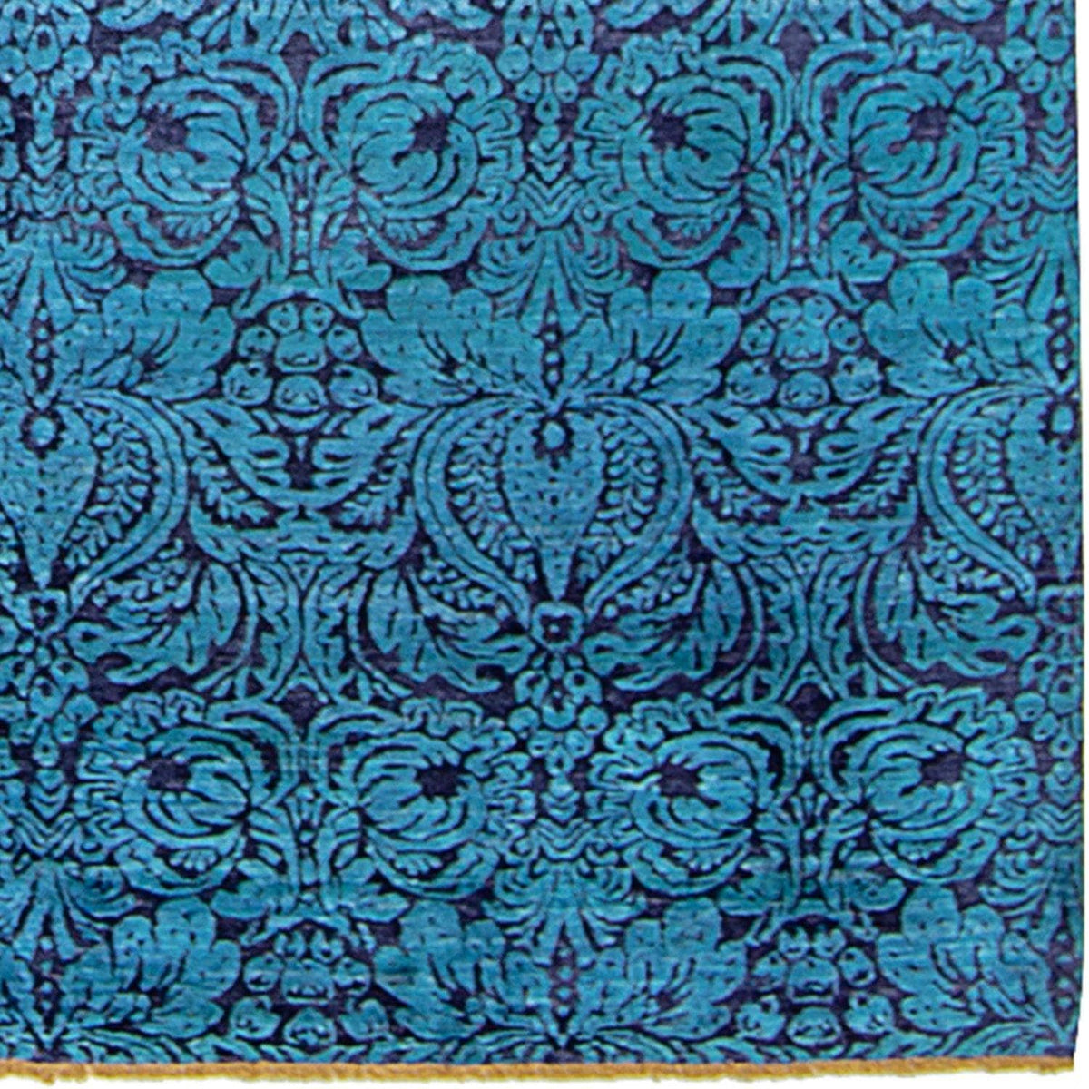 Contemporary Hand-knotted NZ Wool and Bamboo Silk Damask Rug 197cm x 299cm Persian-Rug | House-of-Haghi | NewMarket | Auckland | NZ | Handmade Persian Rugs | Hand Knotted Persian Rugs