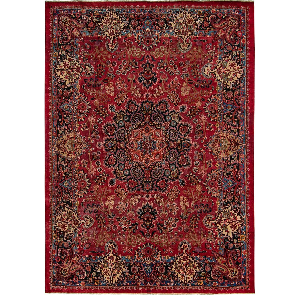 Vintage Hand-knotted Persian Kerman Wool Extra Large Rug (Signed) 288cm x 378cm Persian-Rug | House-of-Haghi | NewMarket | Auckland | NZ | Handmade Persian Rugs | Hand Knotted Persian Rugs