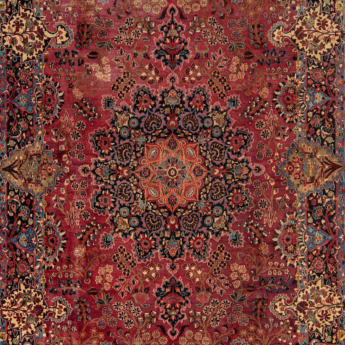 Persian Vintage Hand-knotted Wool Kerman Extra Large ( Signed)  Rug 269cm x 369cm Persian-Rug | House-of-Haghi | NewMarket | Auckland | NZ | Handmade Persian Rugs | Hand Knotted Persian Rugs