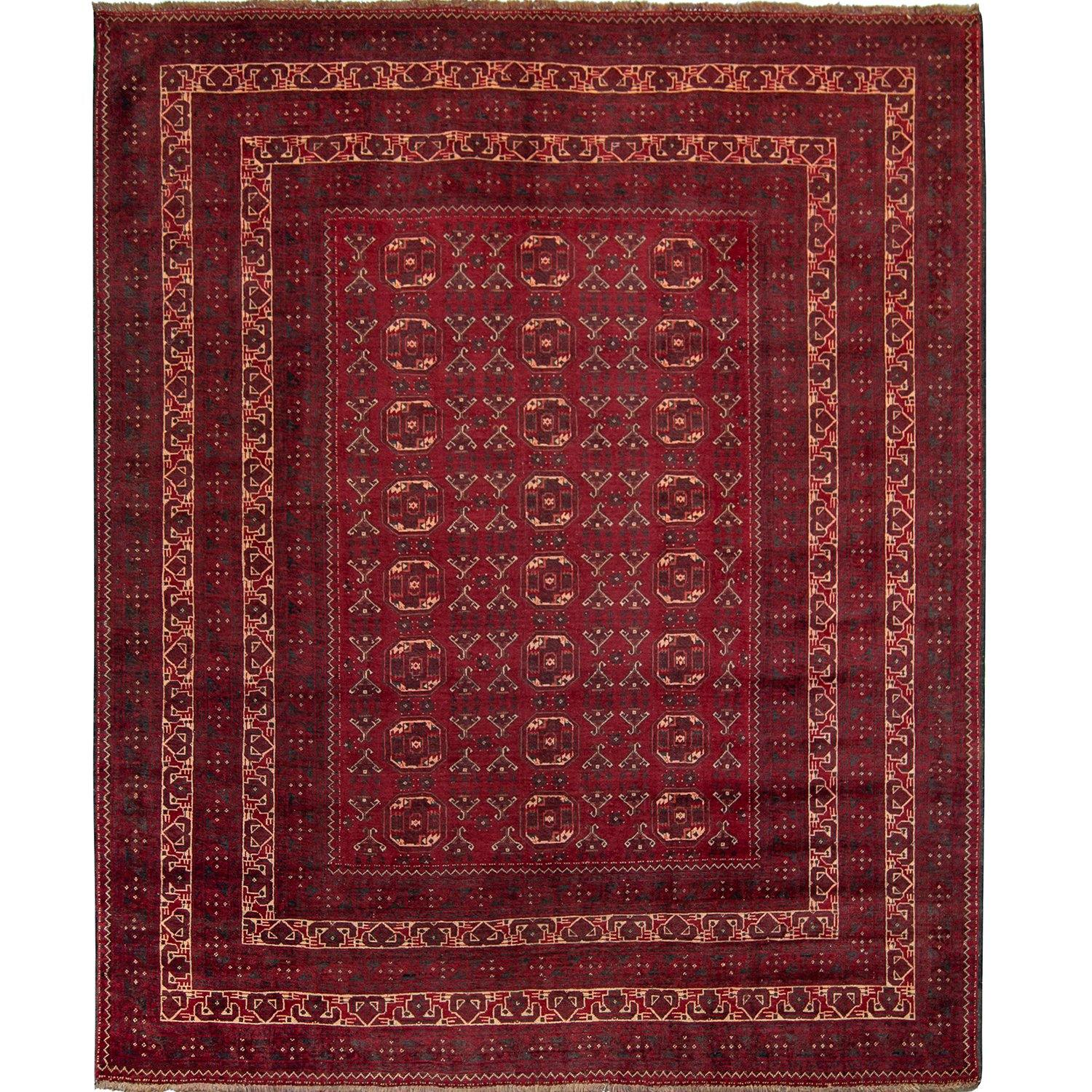 Fine Hand-knotted Wool Tribal Turkmen Rug 211cm x 272cm Persian-Rug | House-of-Haghi | NewMarket | Auckland | NZ | Handmade Persian Rugs | Hand Knotted Persian Rugs
