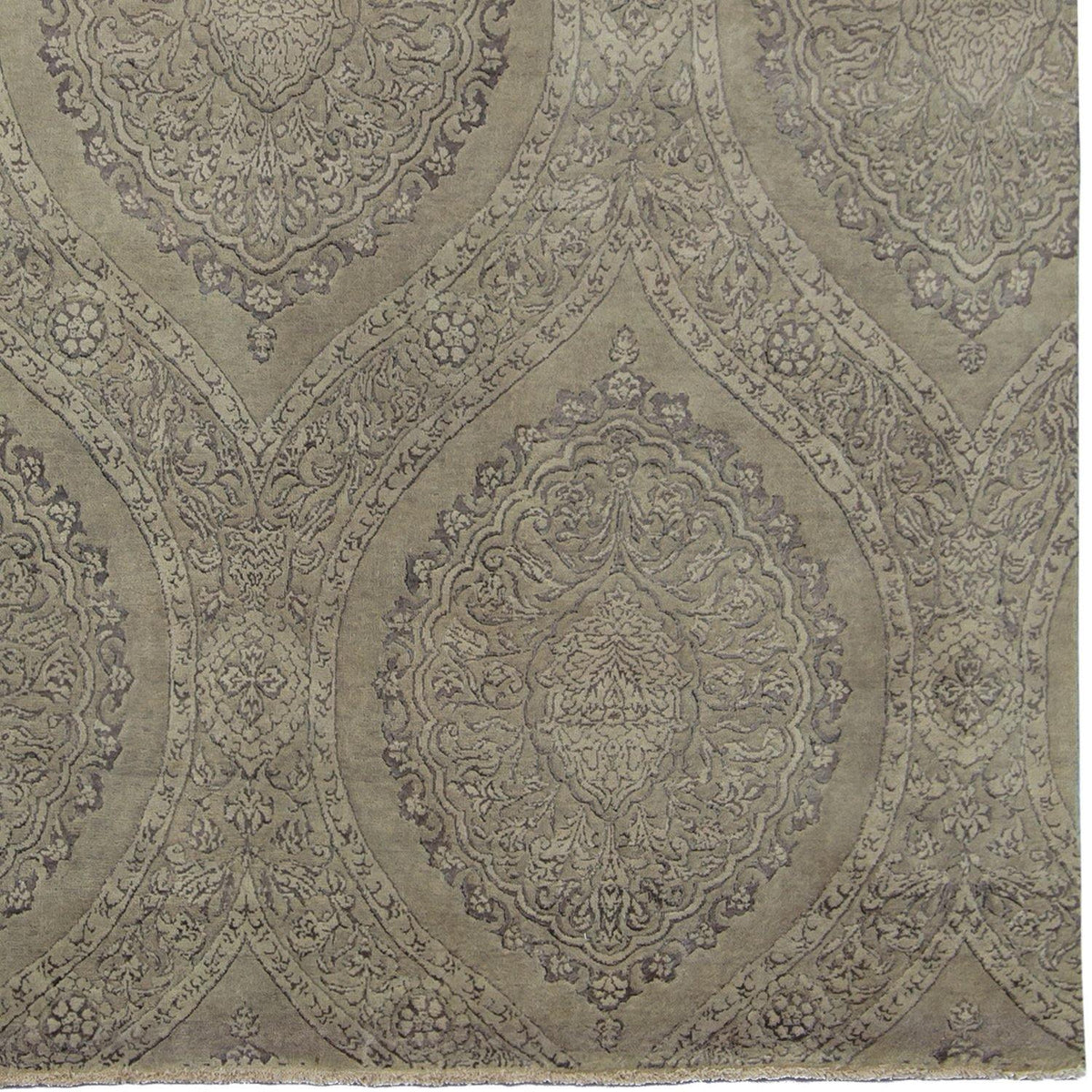 Fine Contemporary Hand-knotted NZ Wool & Silk Rug 229cm x 306cm