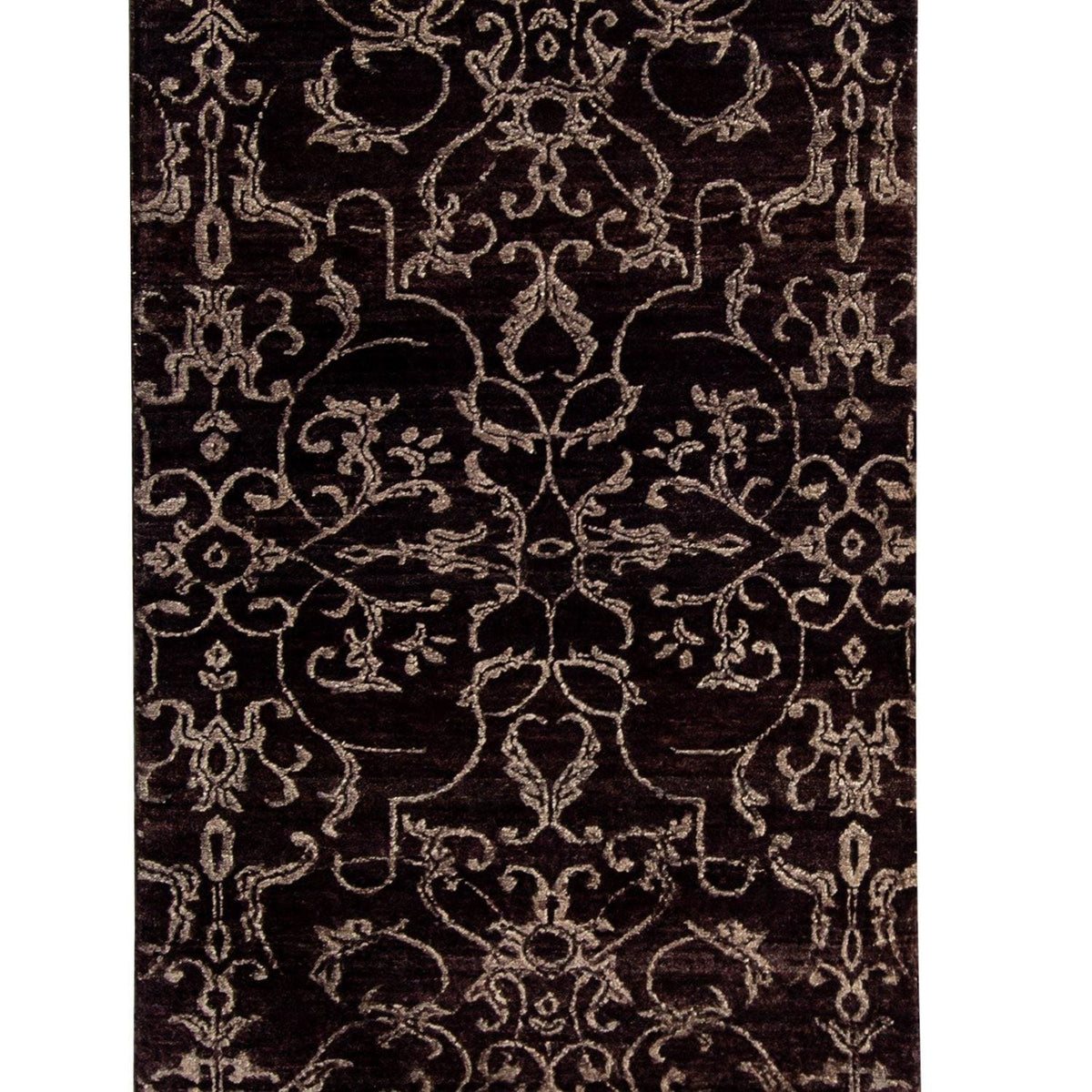Fine Contempoaray Hand-knotted NZ Wool Runner 74cm x 256cm