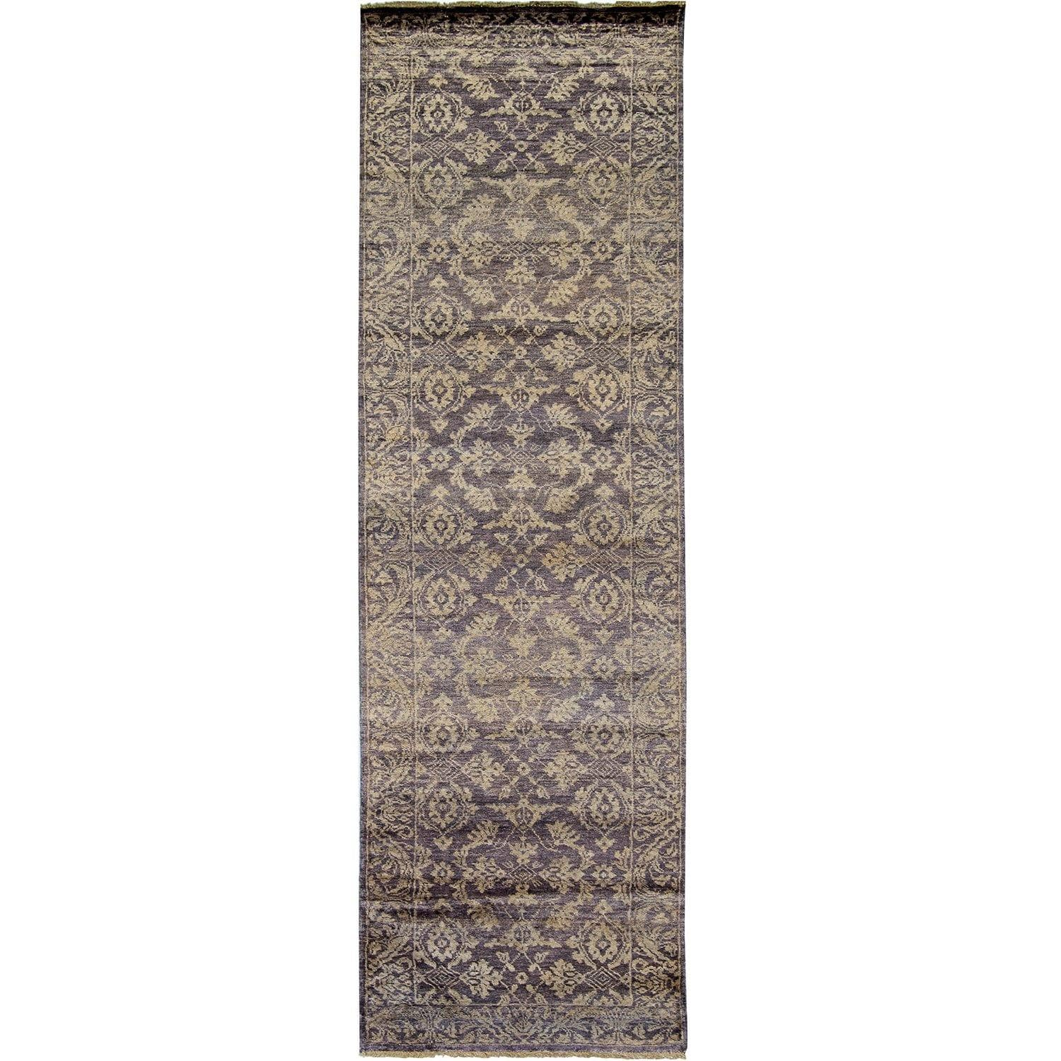 Contemporary Hand-knotted NZ Wool & Bamboo Silk Runner 76cm x 294cm Persian-Rug | House-of-Haghi | NewMarket | Auckland | NZ | Handmade Persian Rugs | Hand Knotted Persian Rugs