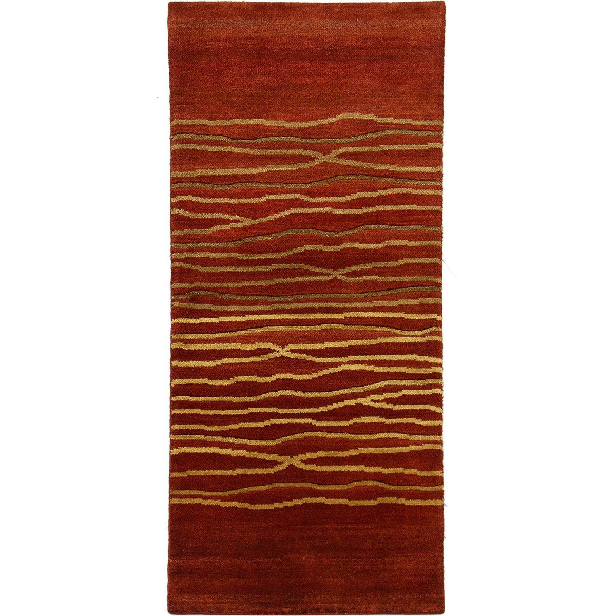 Contemporary Hand-knotted NZ Wool Runner 78cm x 301cm
