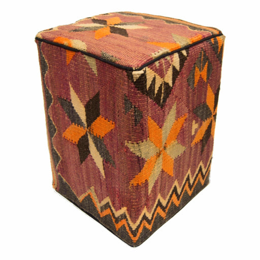 35cm x 35cm Persian Kilim Footstool - House Of Haghi