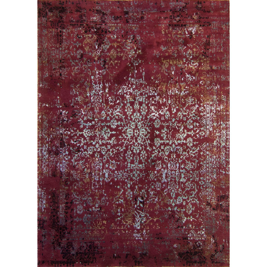 Fine Hand-knotted Modern Wool and Silk Galaxy Rug 157cm x 223cm - House Of Haghi