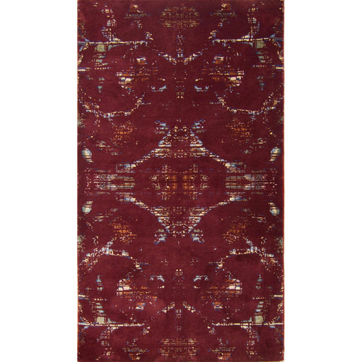 1 x 1.5 Meter_Persian_Modern Hand-knotted Wool and Bamboo Silk Galaxy Runner_handknotted_Rug