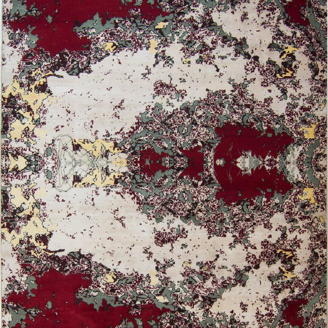 Modern Hand-knotted Wool and Bamboo Silk Galaxy Rug - House Of Haghi