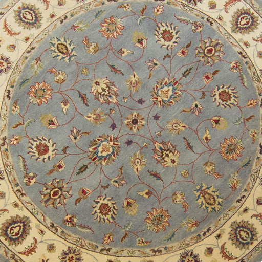 2.5 x 2.5 Meter_Persian_Kashan_handknotted_Round Rug