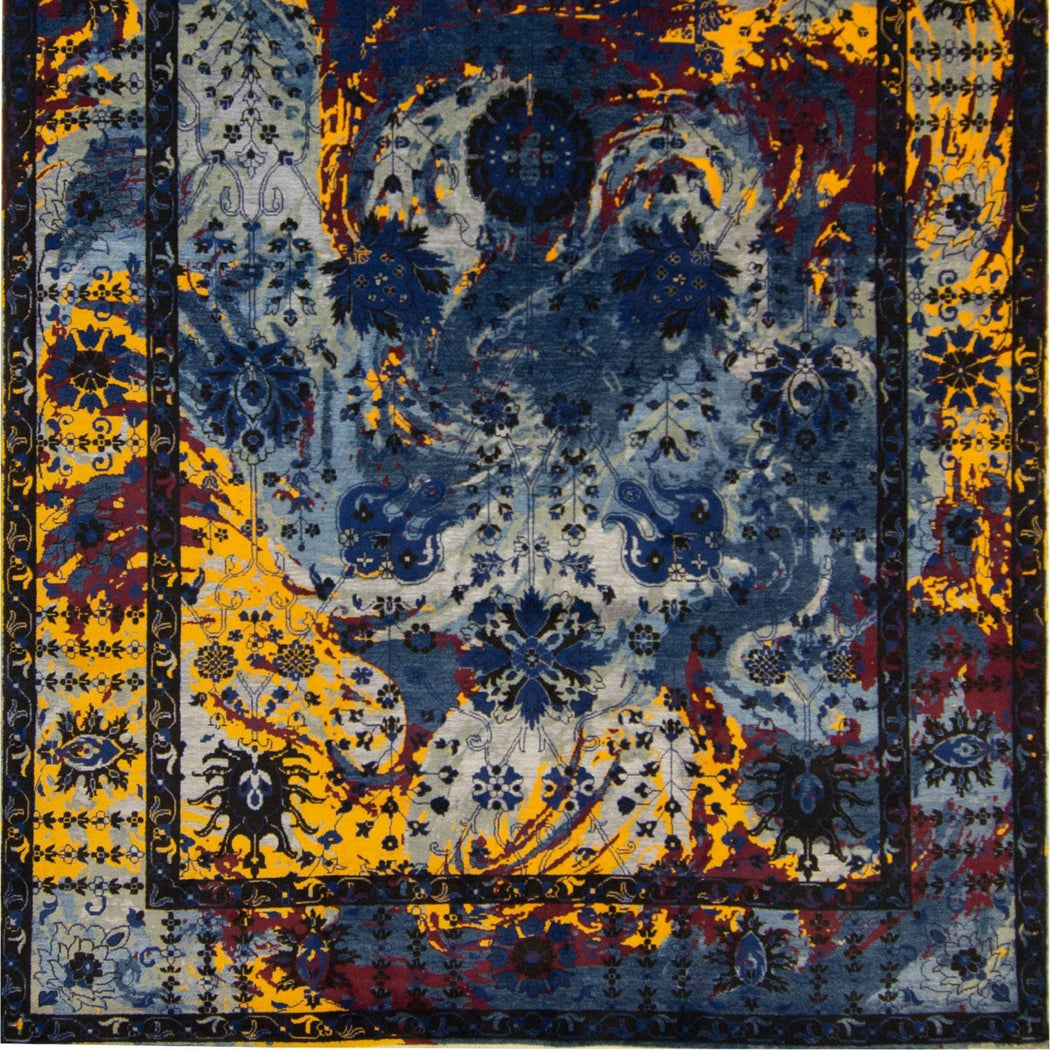 2.5 x 3 Meter_Persian_Modern Hand-knotted Wool and Silk Galaxy Rug_handknotted_Rug