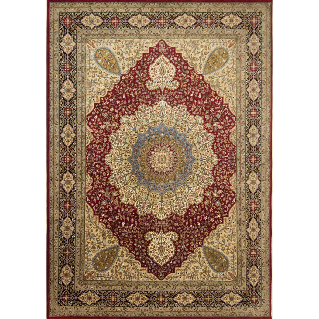 Fine Hand-knotted Wool and Silk Tabriz  Rug 274cm x 363cm - House Of Haghi