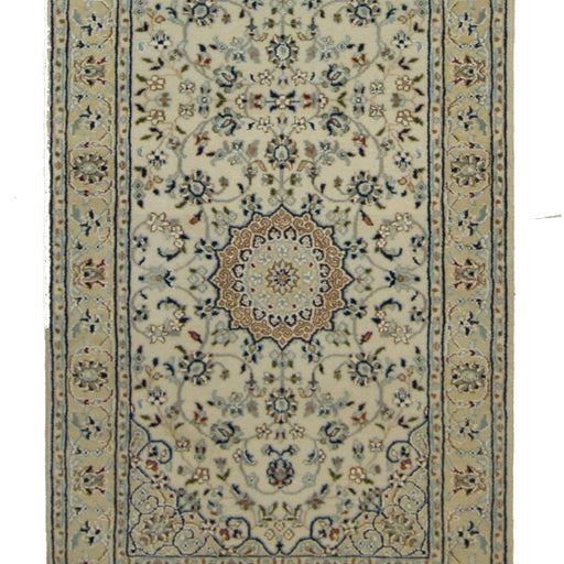 Authentic Fine Hand-knotted Persian Wool and Silk Nain Runner 79cm x 427cm - House Of Haghi