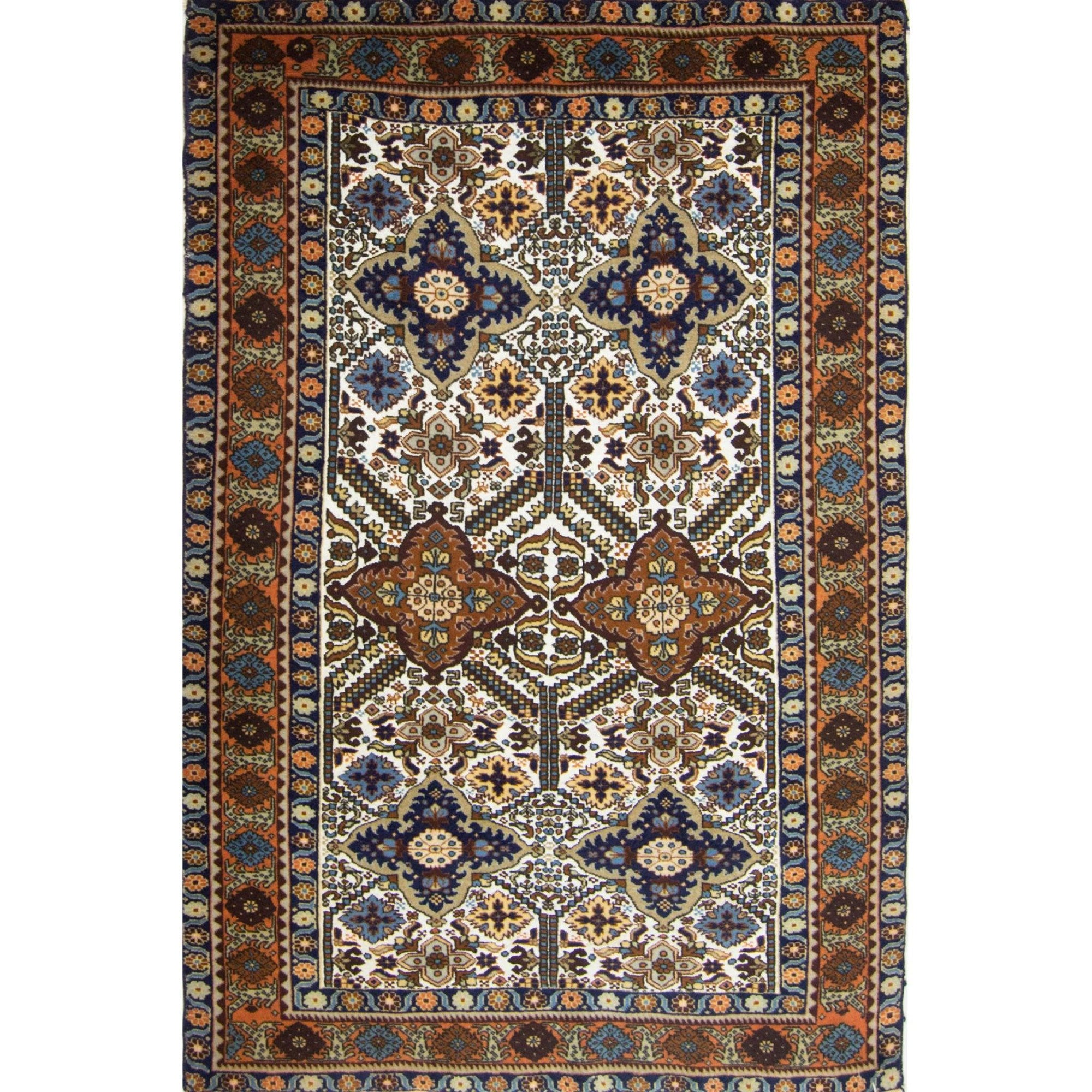 Super Fine Wool and Silk Hand-knotted Persian Ardabil Rug 133cm x 197cm Persian-Rug | House-of-Haghi | NewMarket | Auckland | NZ | Handmade Persian Rugs | Hand Knotted Persian Rugs