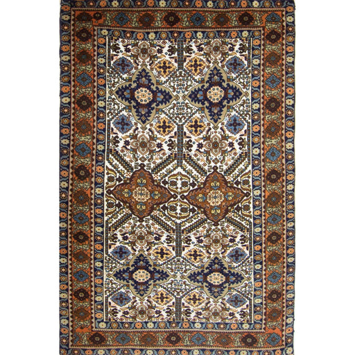 1.5 x 2 Meter_Persian_Super Fine Wool and Silk Hand-knotted Persian Ardabil Rug_handknotted_Rug