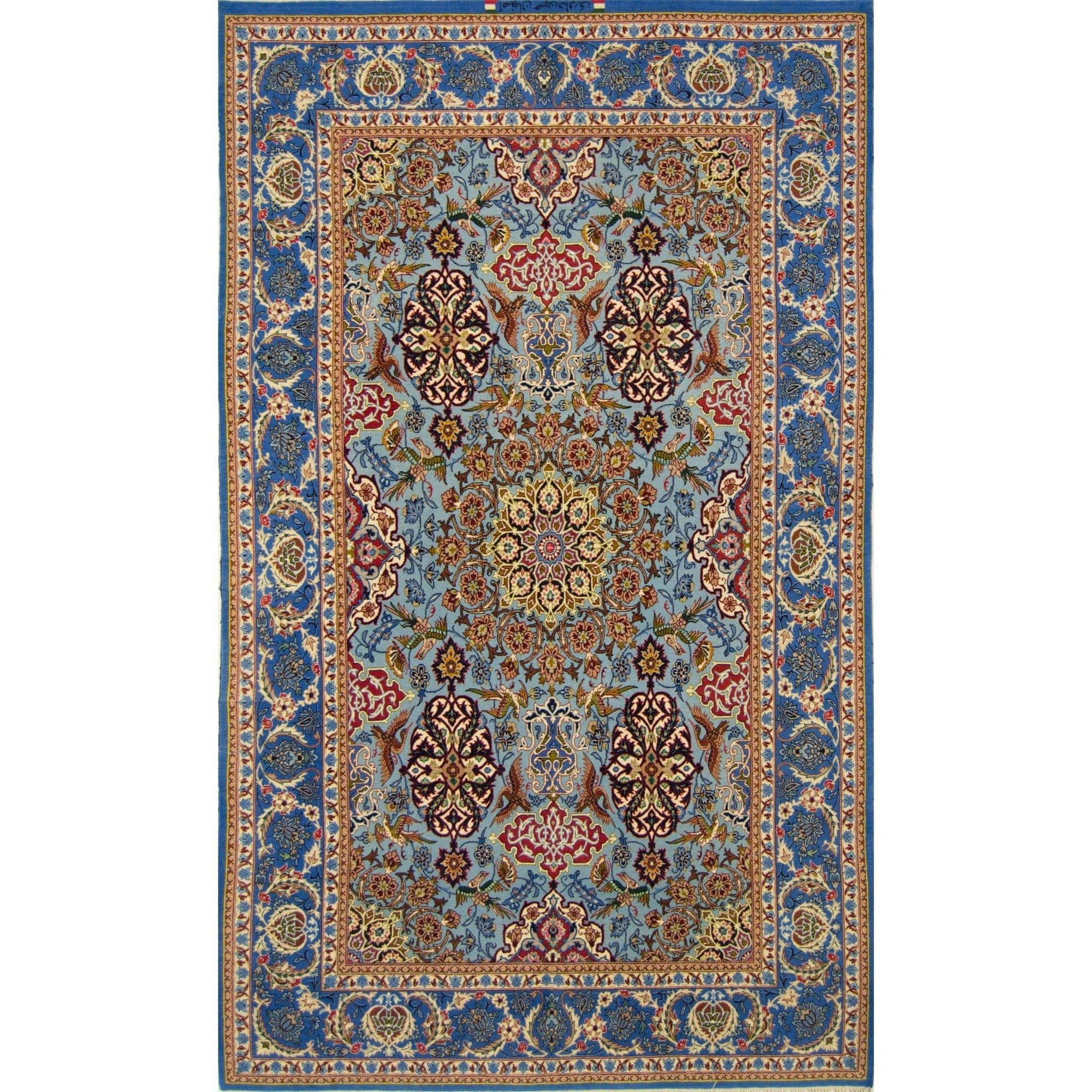 Fine Hand-knotted Signed Isfahan Silk And Wool (Reversible) Persian Rug 144cm x 231cm Persian-Rug | House-of-Haghi | NewMarket | Auckland | NZ | Handmade Persian Rugs | Hand Knotted Persian Rugs