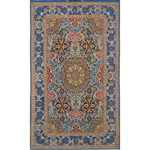 Fine Persian Signed Isfahan Silk And Wool (Reversible) Rug 144cm x 231cm - House Of Haghi