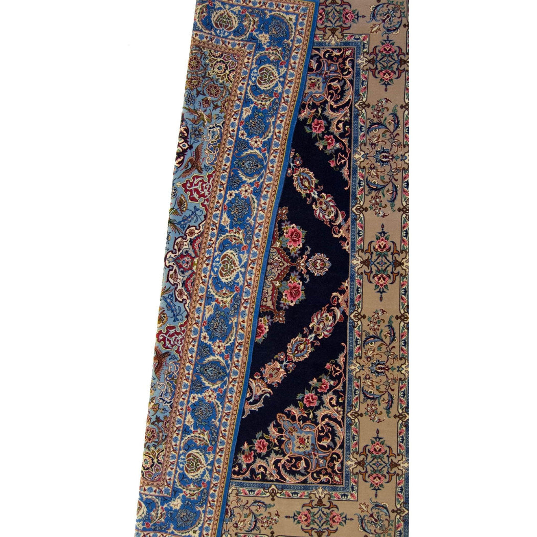 Fine Persian Signed Isfahan Silk And Wool (reversible) - House Of Haghi