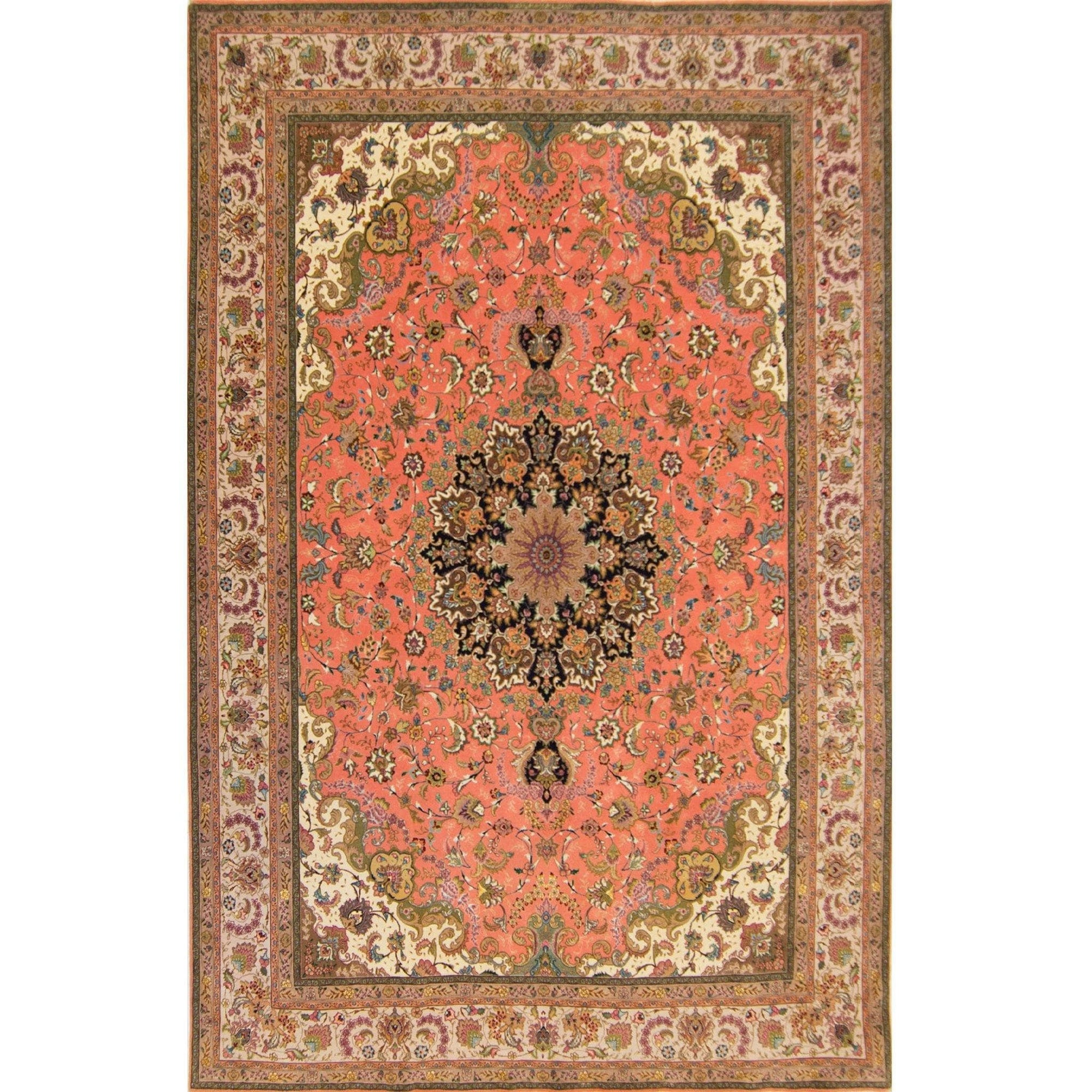 Super Fine Hand-knotted Wool and Silk Tabriz Rug 241cm x 350cm Persian-Rug | House-of-Haghi | NewMarket | Auckland | NZ | Handmade Persian Rugs | Hand Knotted Persian Rugs
