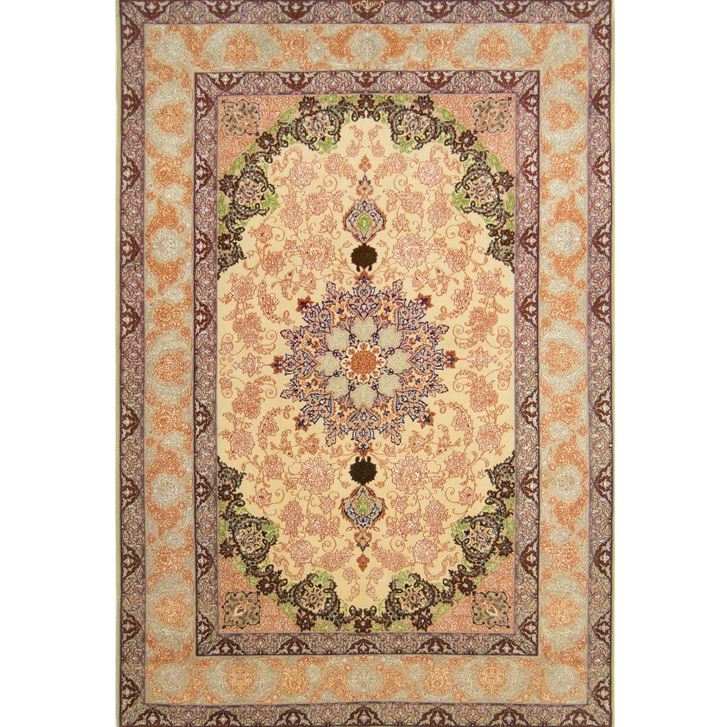 Genuine Super Fine Hand-knotted Persian Wool Isfahan Rug 156cm x 230cm - House Of Haghi