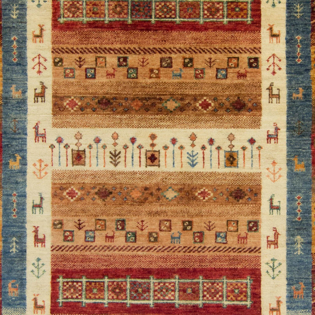 Hand-knotted Wool Khorjin Rug 103cm x 150cm - House Of Haghi