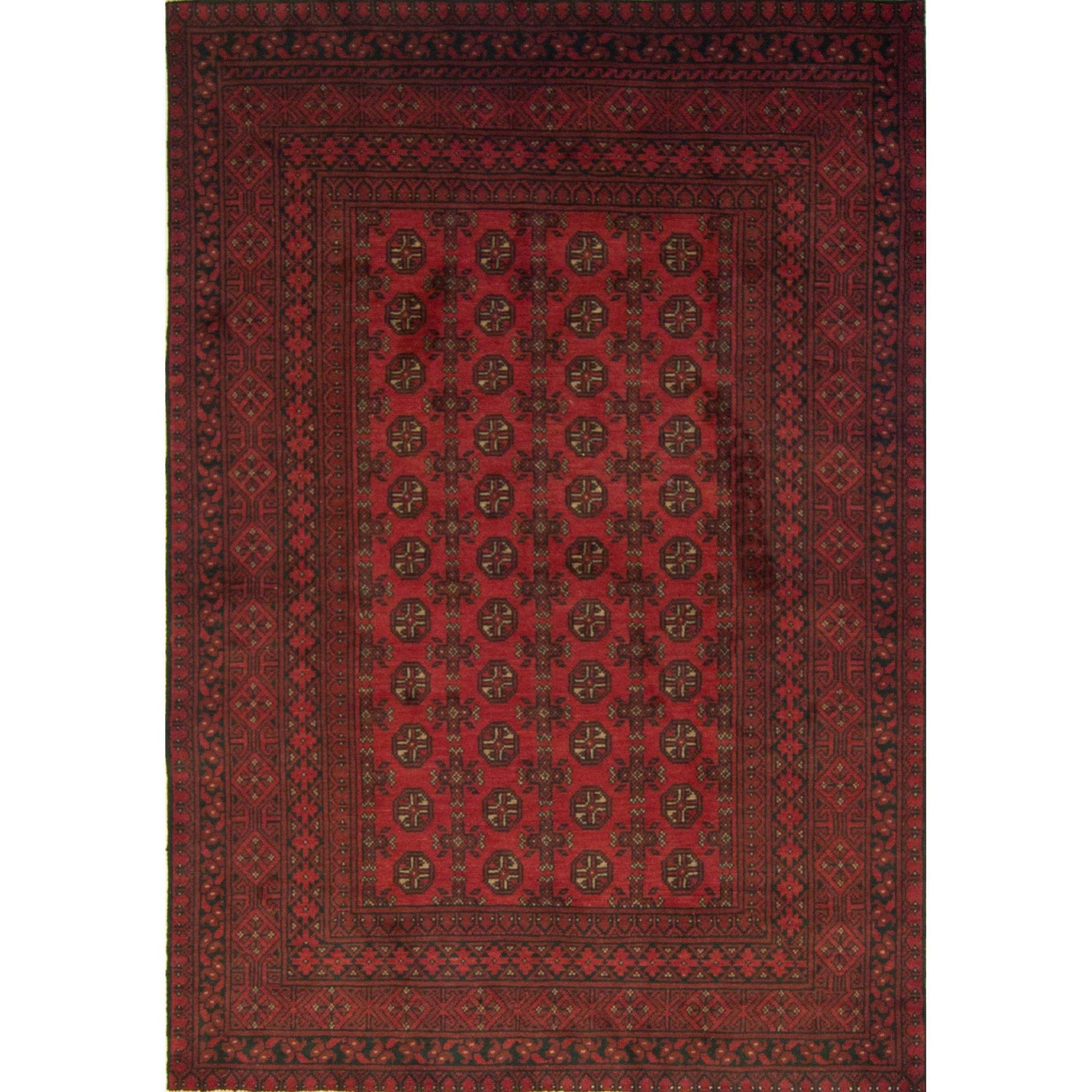 Afghan Tribal Hand-knotted 100% Wool Bokhara Rug 161cm x 234cm Persian-Rug | House-of-Haghi | NewMarket | Auckland | NZ | Handmade Persian Rugs | Hand Knotted Persian Rugs
