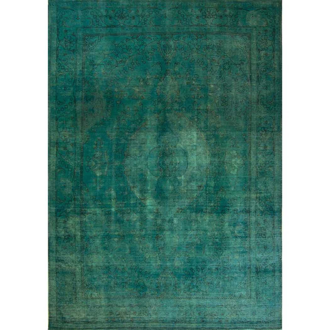 2.5 x 3.5 Meter_Persian_Tabriz - Over Dyed_handknotted_Rug
