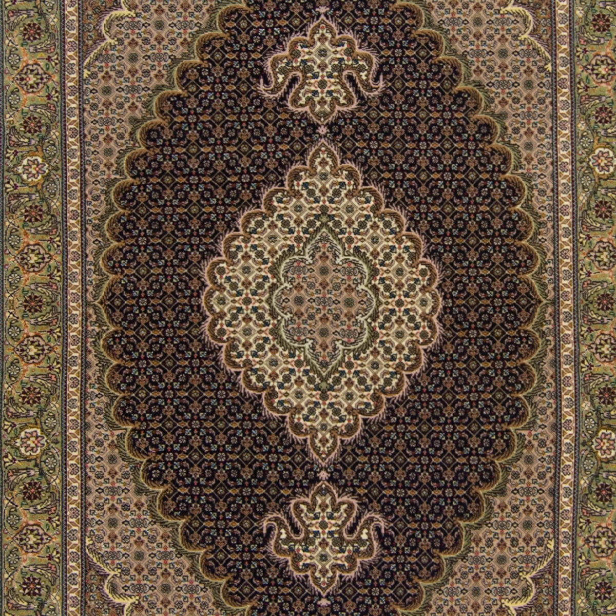 Super Fine Hand-knotted Persian Wool and Silk Tabriz - Mahi Rug 100 cm x 150 cm Persian-Rug | House-of-Haghi | NewMarket | Auckland | NZ | Handmade Persian Rugs | Hand Knotted Persian Rugs