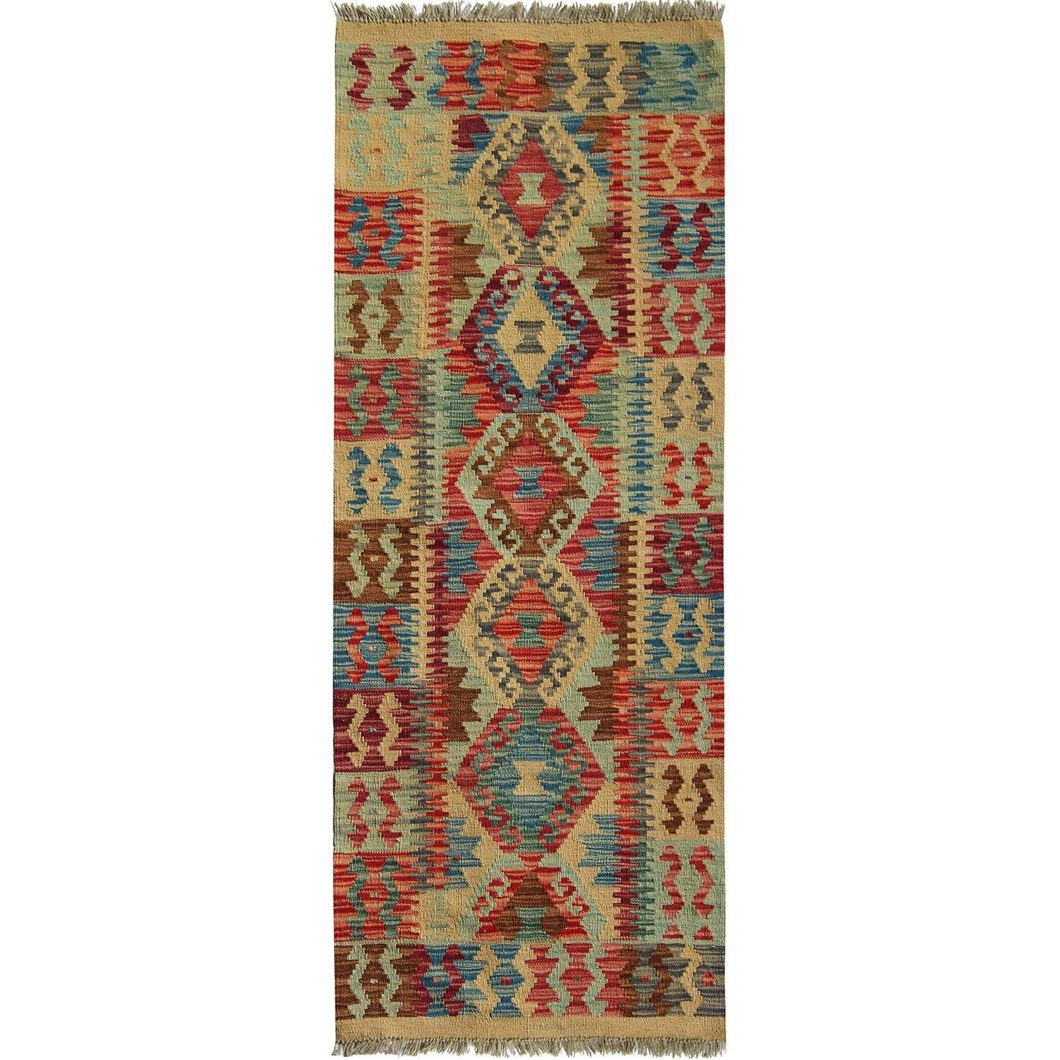 Hand-woven 100% Wool Kilim Runner 65cm x 177cm Persian-Rug | House-of-Haghi | NewMarket | Auckland | NZ | Handmade Persian Rugs | Hand Knotted Persian Rugs